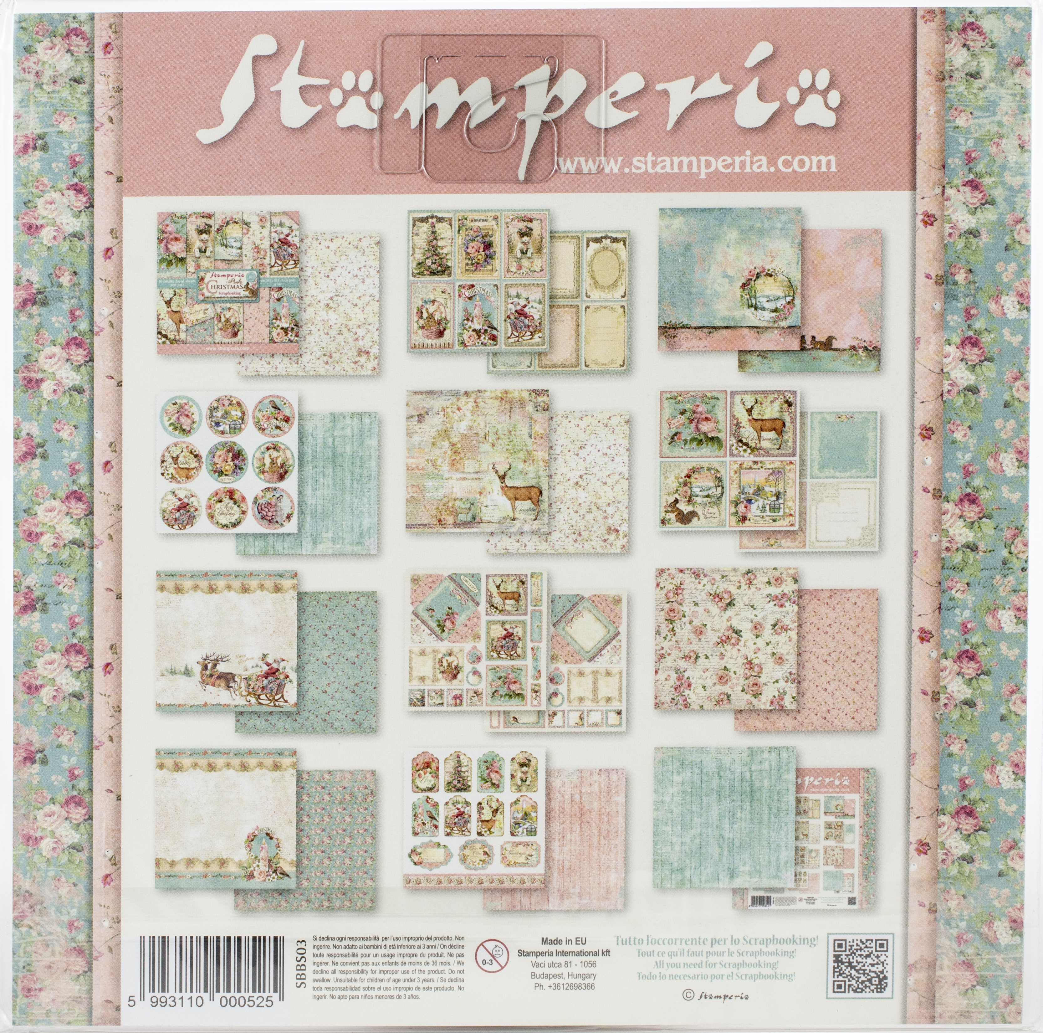 Stamperia - Pink Christmas Paper Pad - 8X8 10 Designs/1 Each