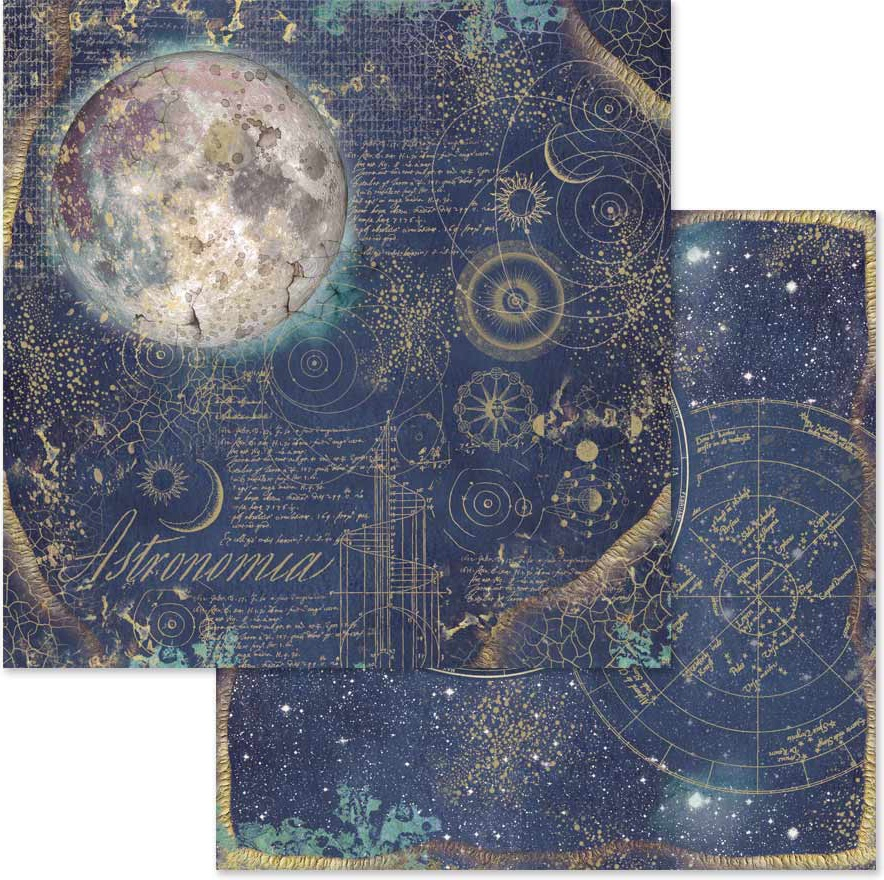Stamperia Double-Sided Cardstock 12X12-Cosmos Astral