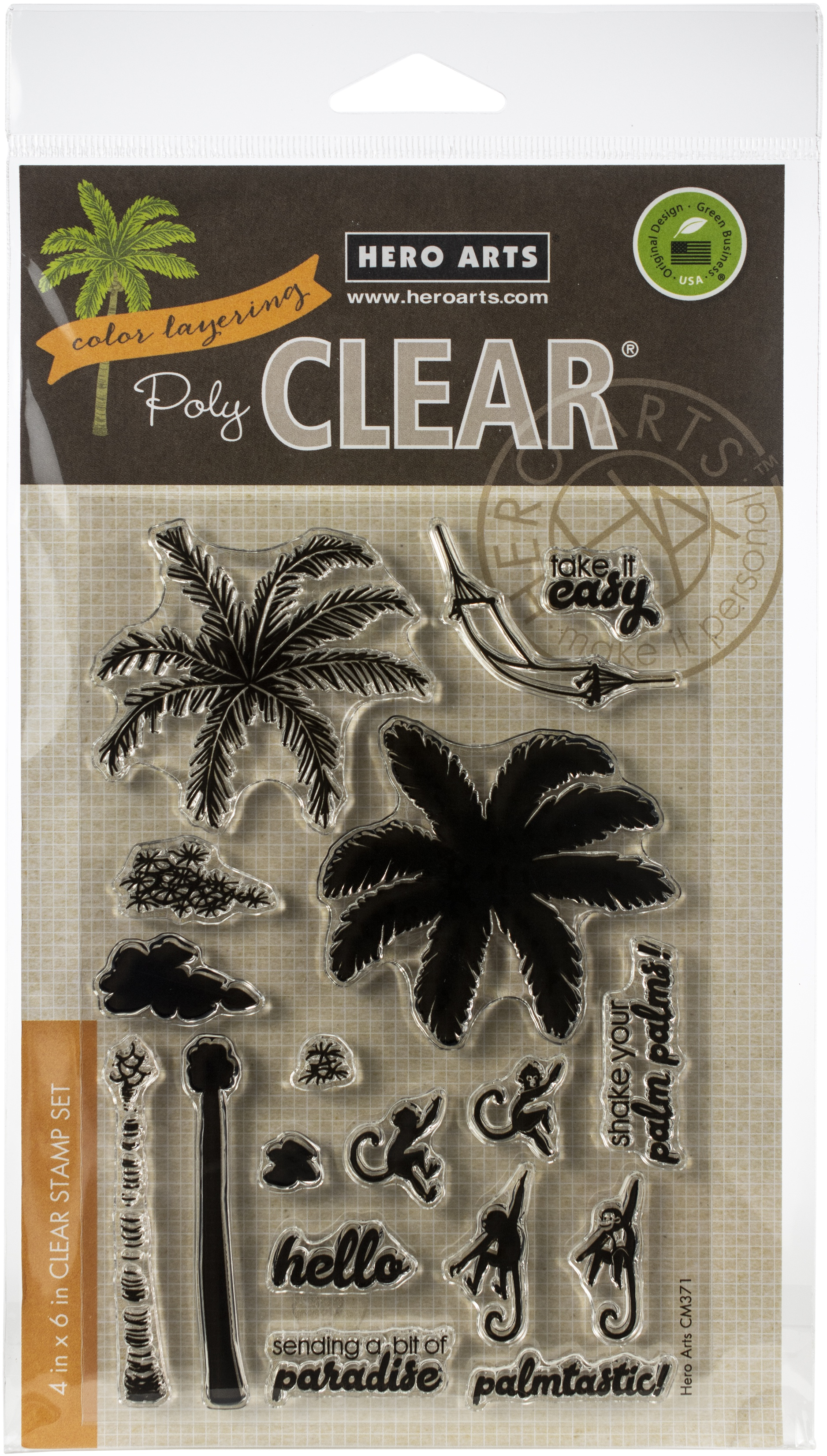Hero Arts Color Layering Clear Stamps 4X6-Palm Tree