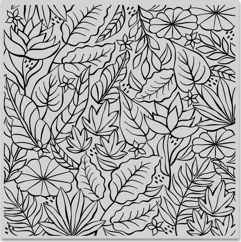 Hero Arts Cling Stamps 6X6-Jungle Bold Prints