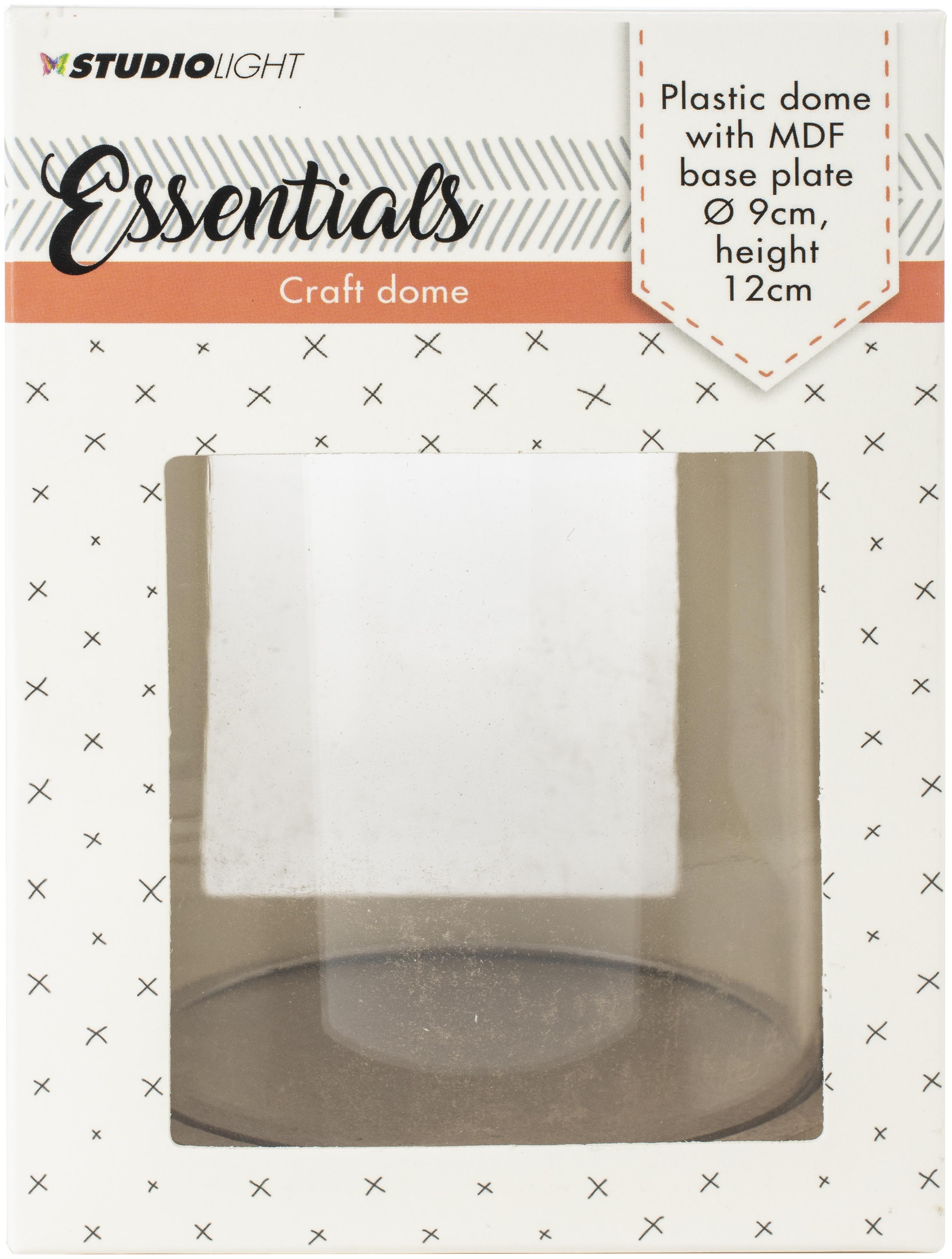Studio Light Essentials Plastic Dome W/Base Plate-3.5X4.75