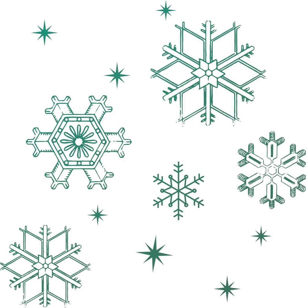 Couture Creations Naughty Or Nice Mini Stamp-Snowflakes 1.9X1.9