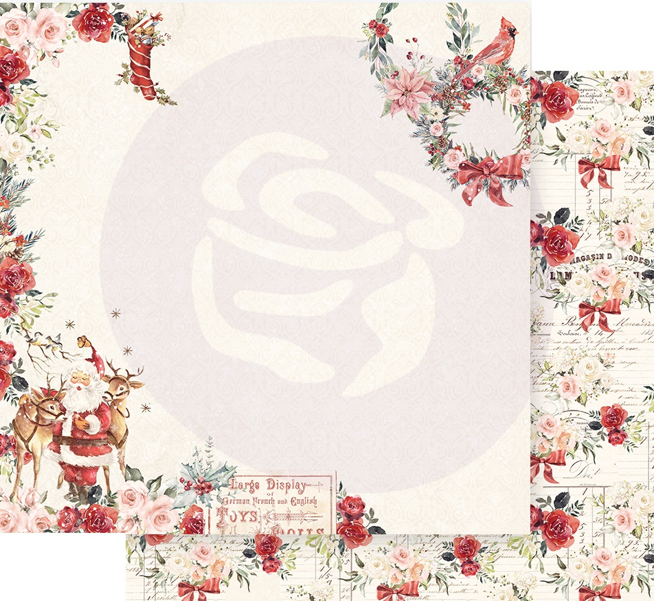Christmas In The Country Double-Sided Cardstock 12X12-Sweet Santa Claus