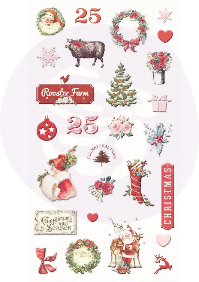 Christmas In The Country Puffy Stickers 27/Pkg-