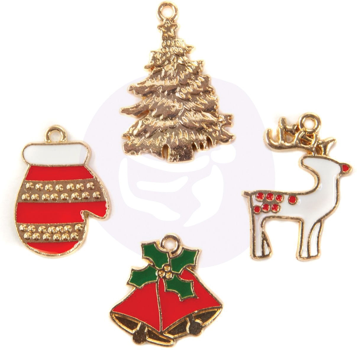 Christmas In The Country Enamel Charms 4/Pkg-