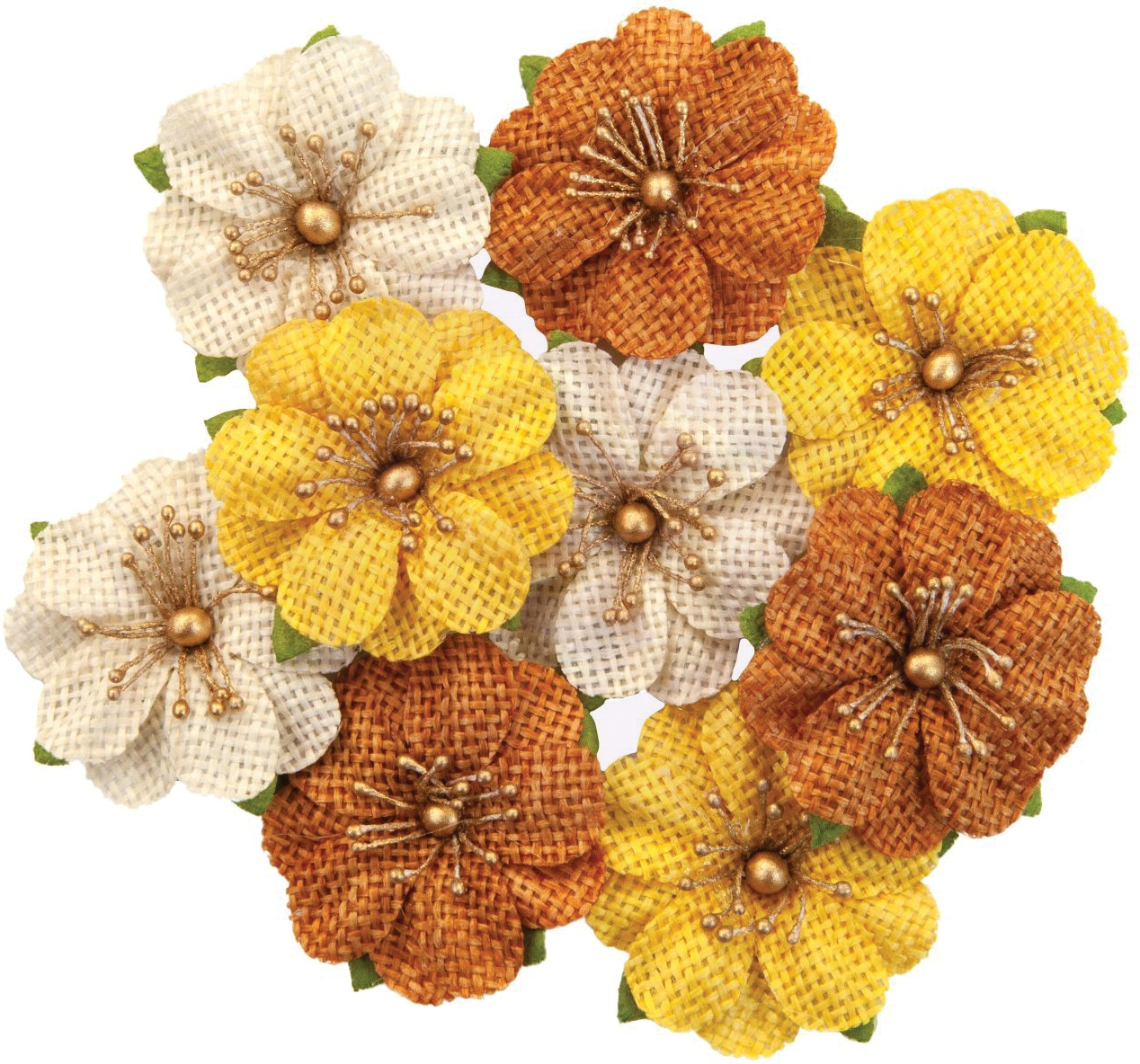 Prima Marketing Mulberry Paper Flowers  -Haystack/Autumn Sunset