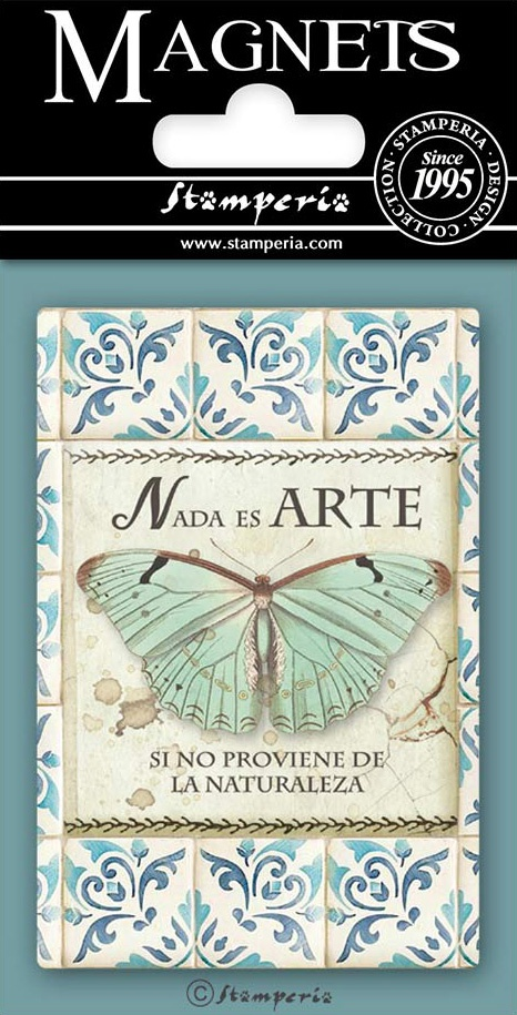 Stamperia Magnet 2.25X3.25-Butterfly, Azulejos