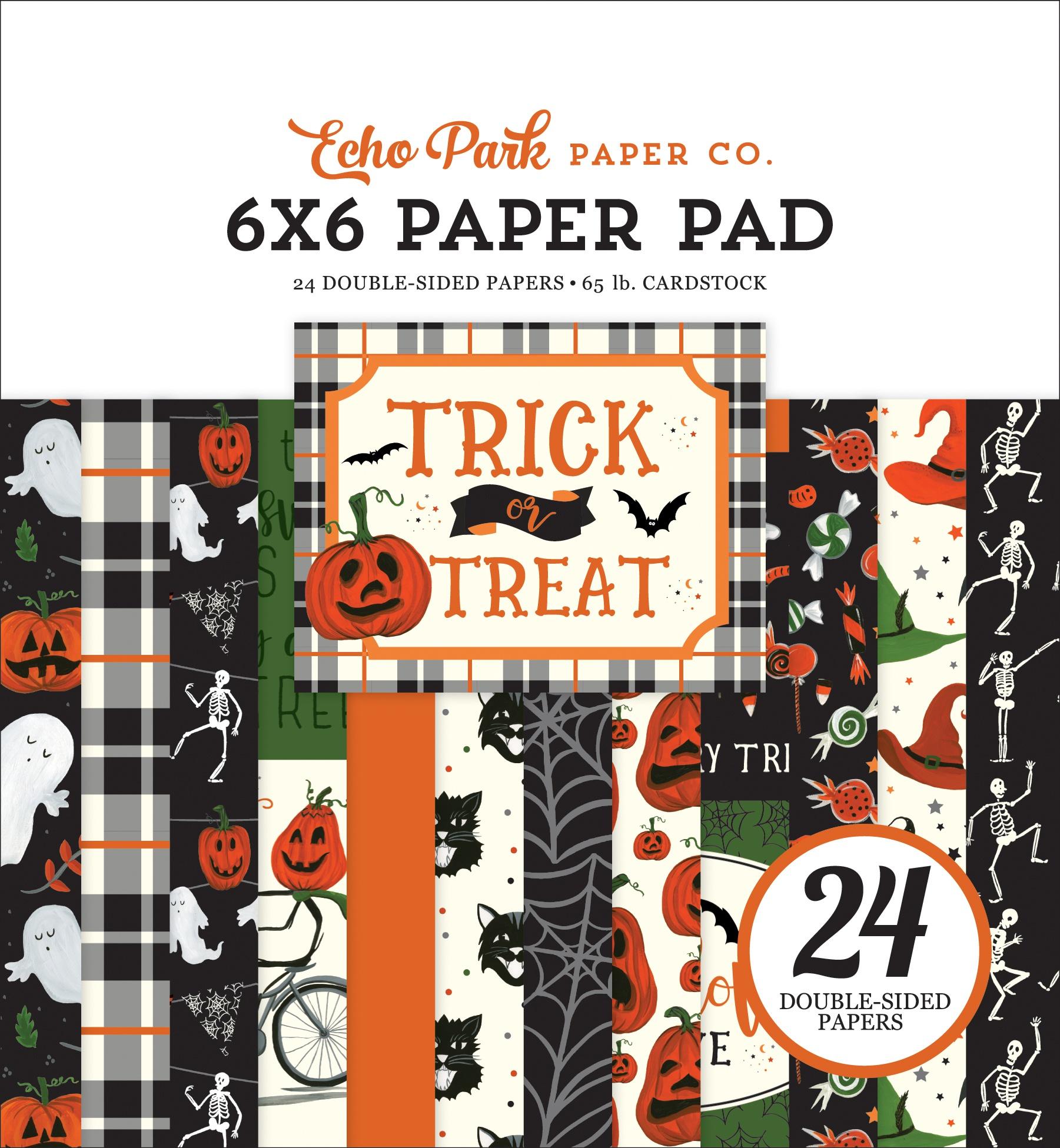 Echo Park Double-Sided Paper Pad 6X6 24/Pkg-Trick Or Treat, 12 Designs/2 Each