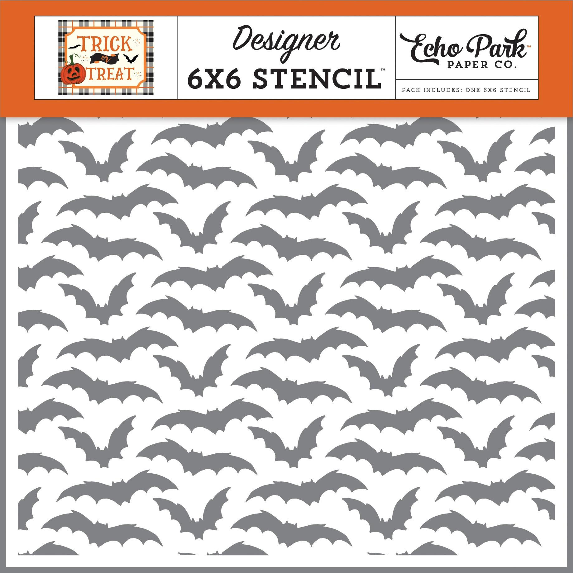Echo Park Stencil 6X6-Going Batty