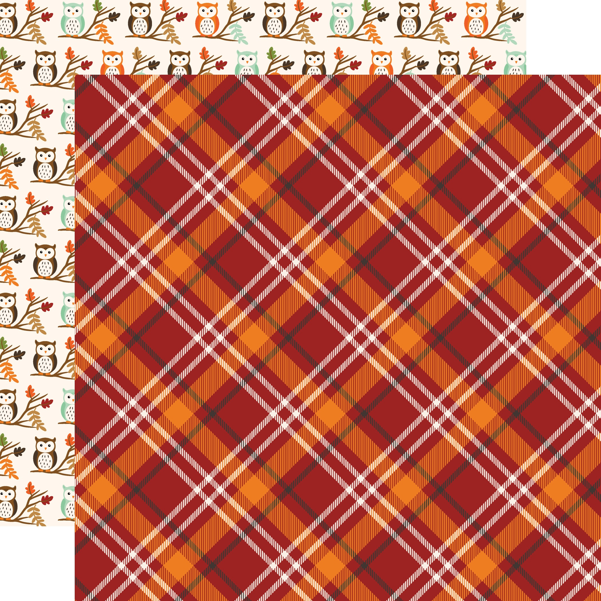 My Favorite Fall Double-Sided Cardstock 12X12-Fall Plaid