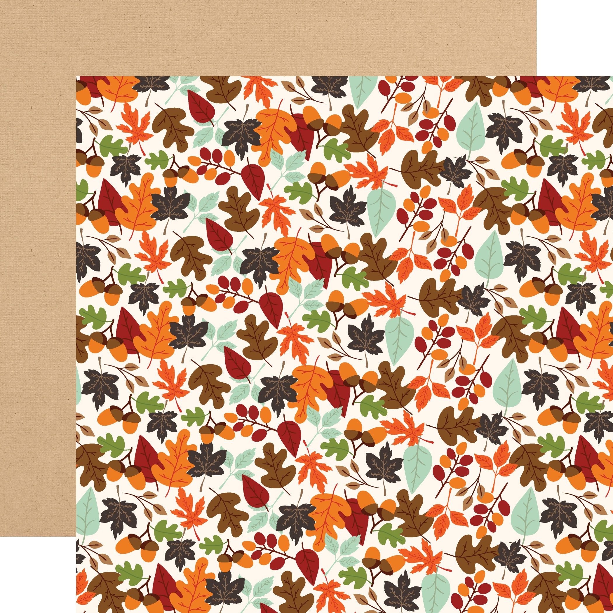 My Favorite Fall Double-Sided Cardstock 12X12-Falling Leaves