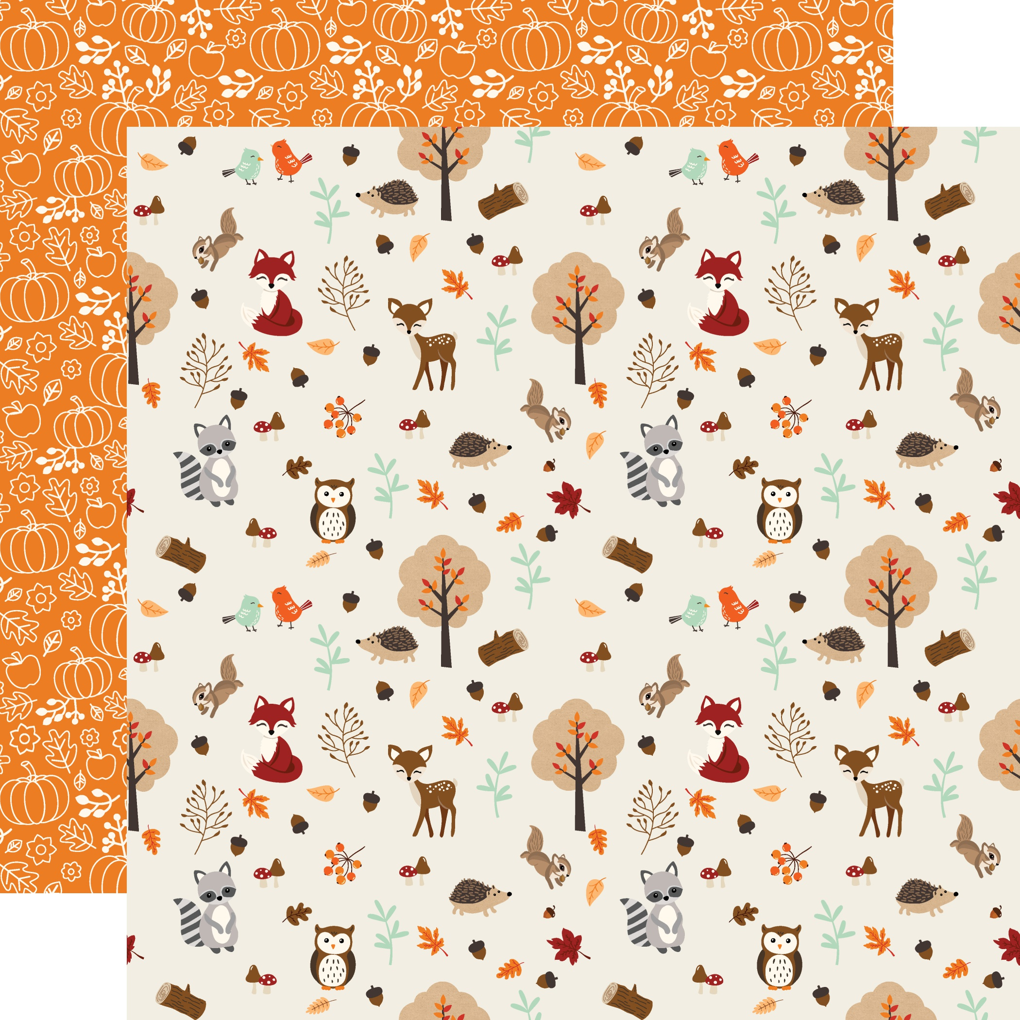 My Favorite Fall Double-Sided Cardstock 12X12-Fall Friends