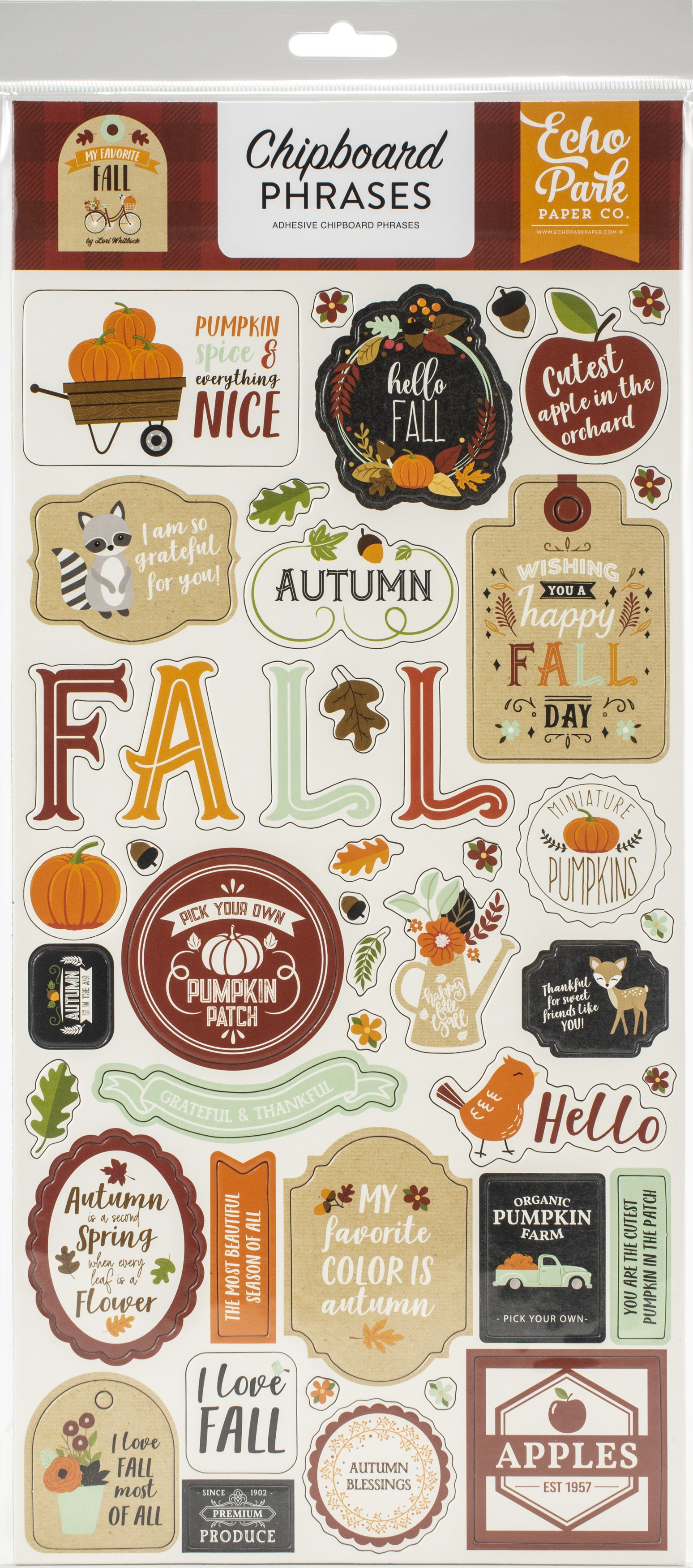 My Favorite Fall Chipboard 6X13-Phrases
