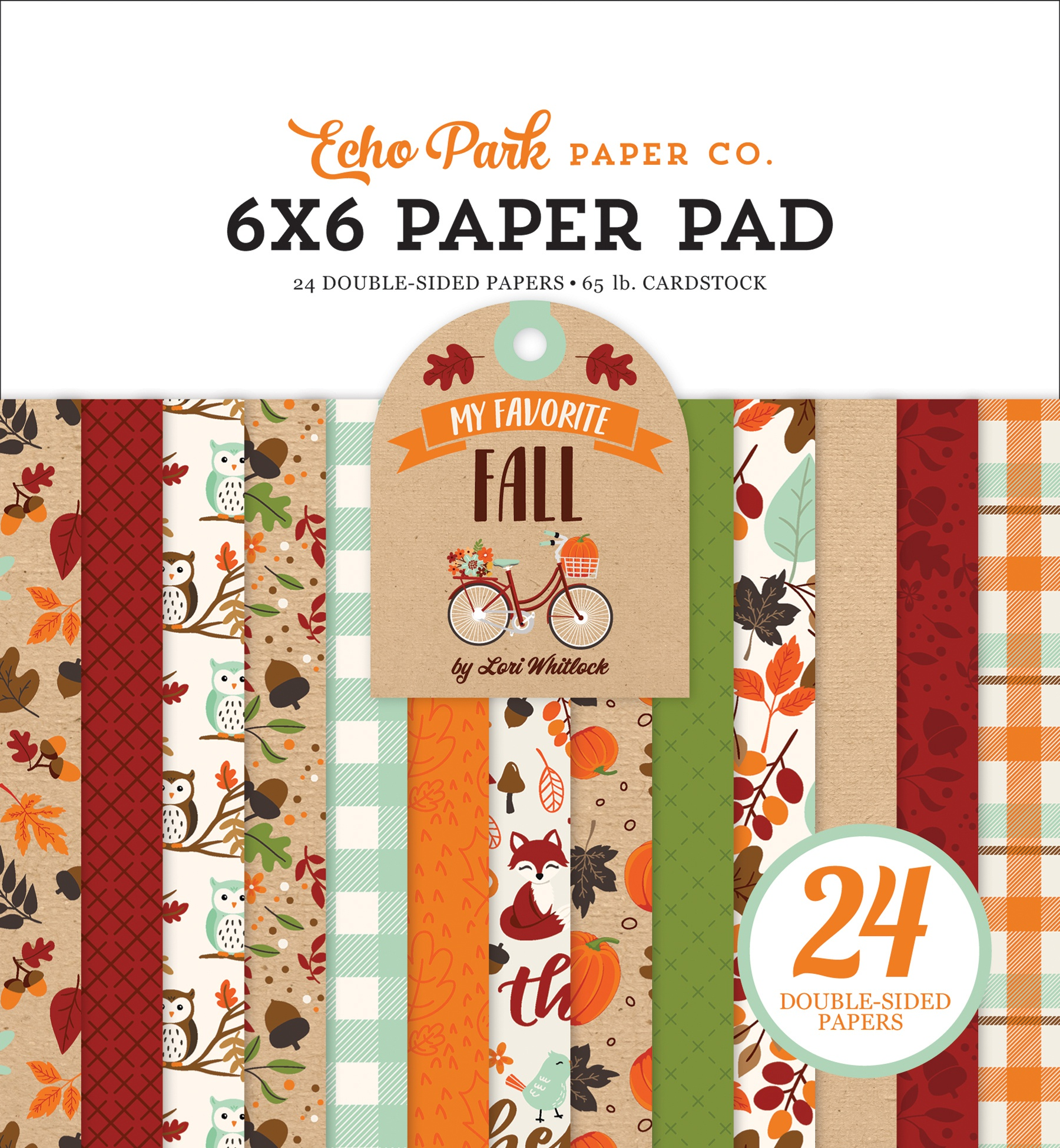 Echo Park Double-Sided Paper Pad 6X6 24/Pkg-My Favorite Fall 12 Designs/2 Each
