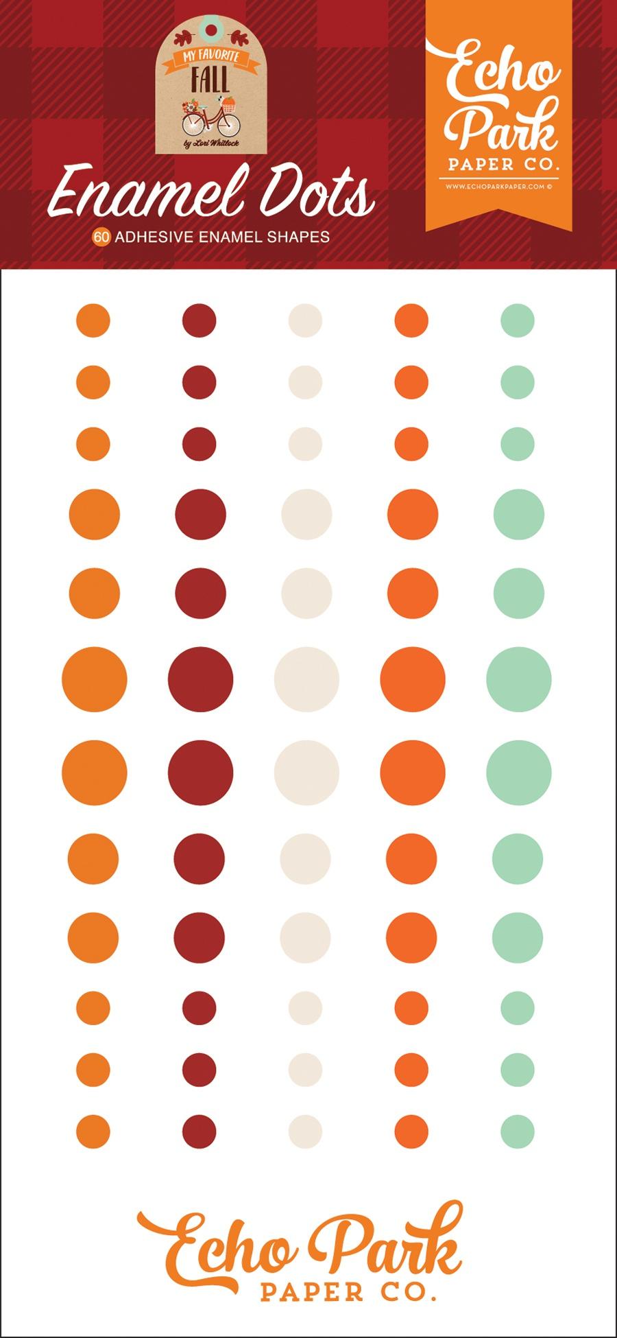 Echo Park Adhesive Enamel Dots 60/Pkg-My Favorite Fall