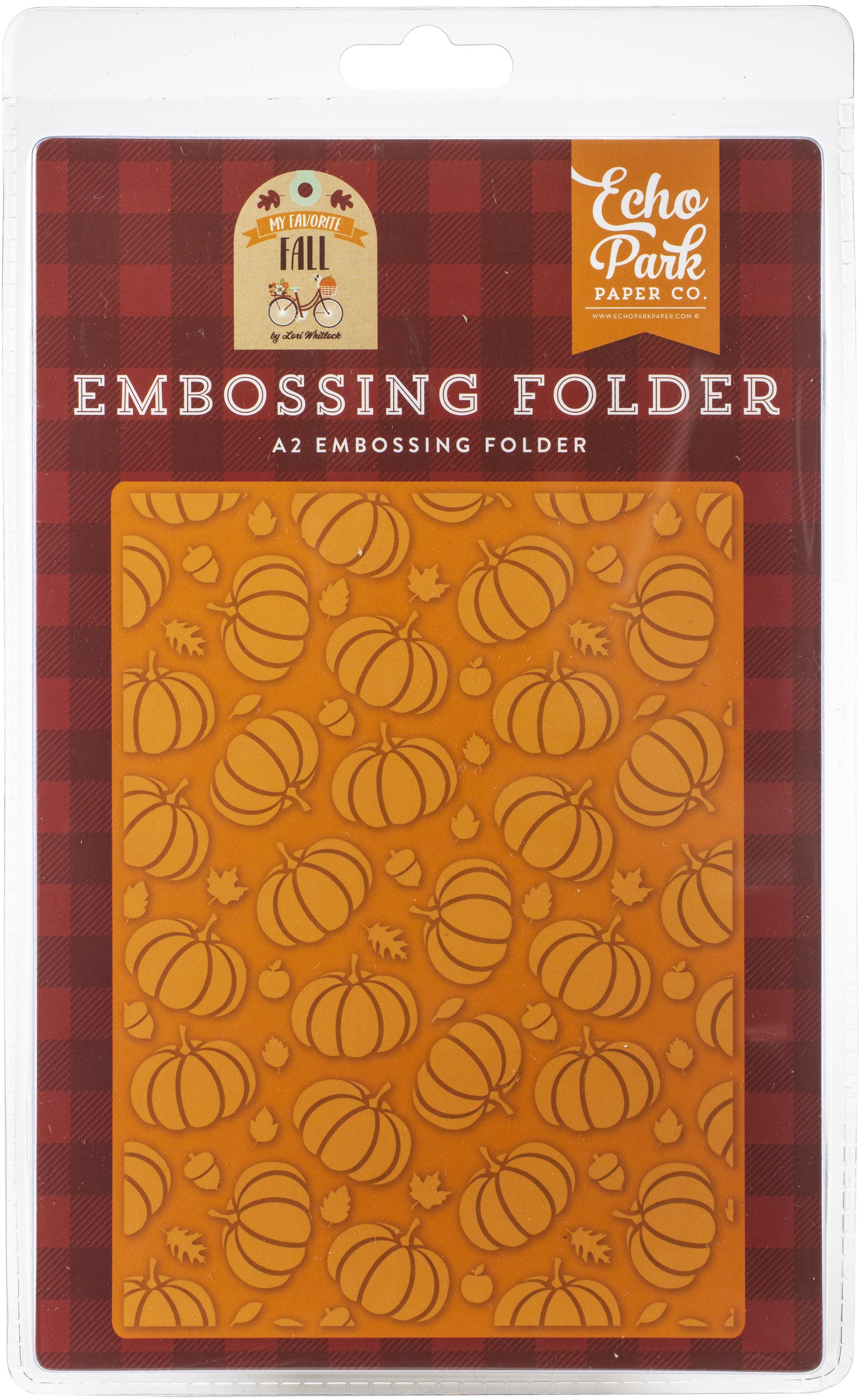 Echo Park Embossing Folder A2-Pumpkin Patch