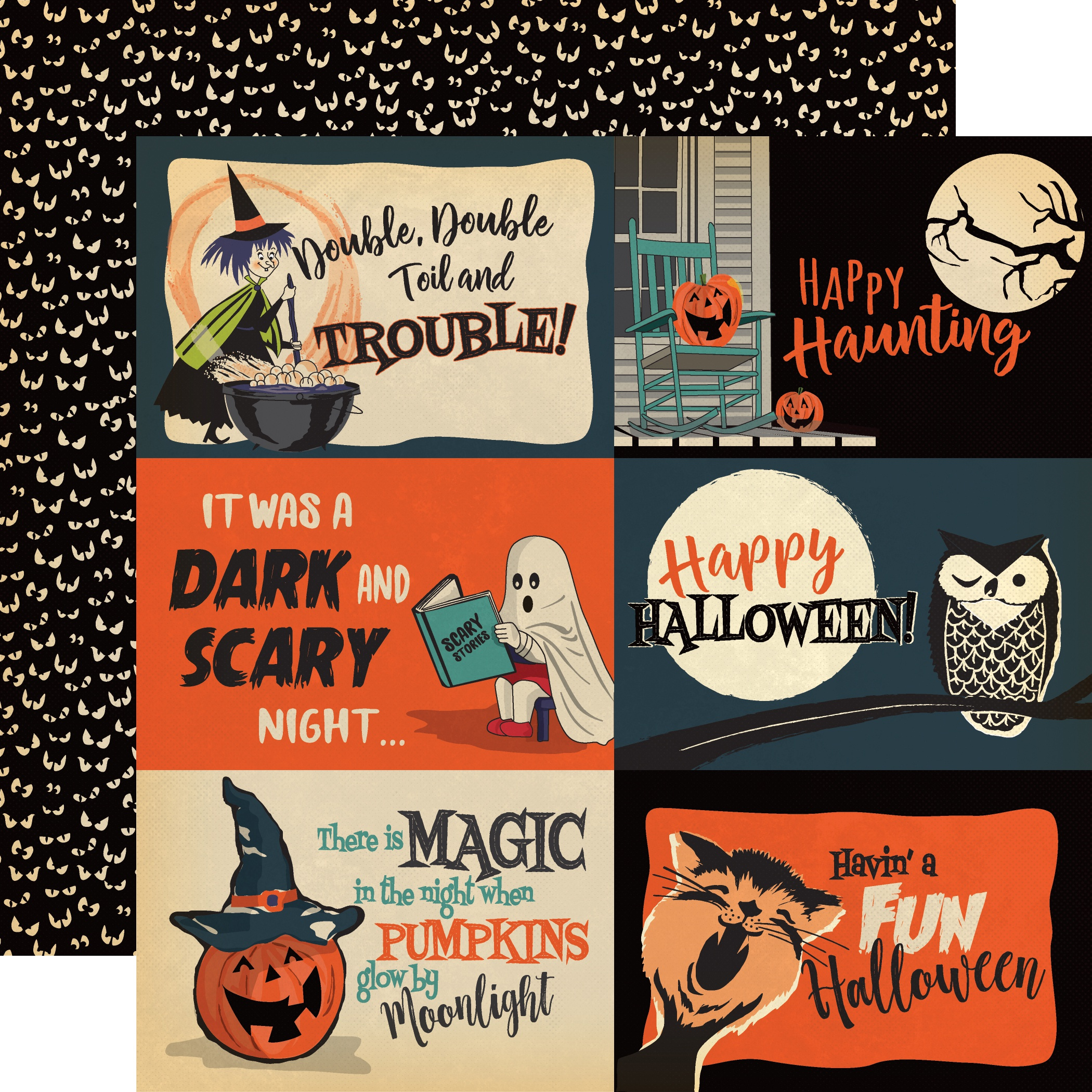 Happy Halloween Double-Sided Cardstock 12X12-4X6 Journaling Cards