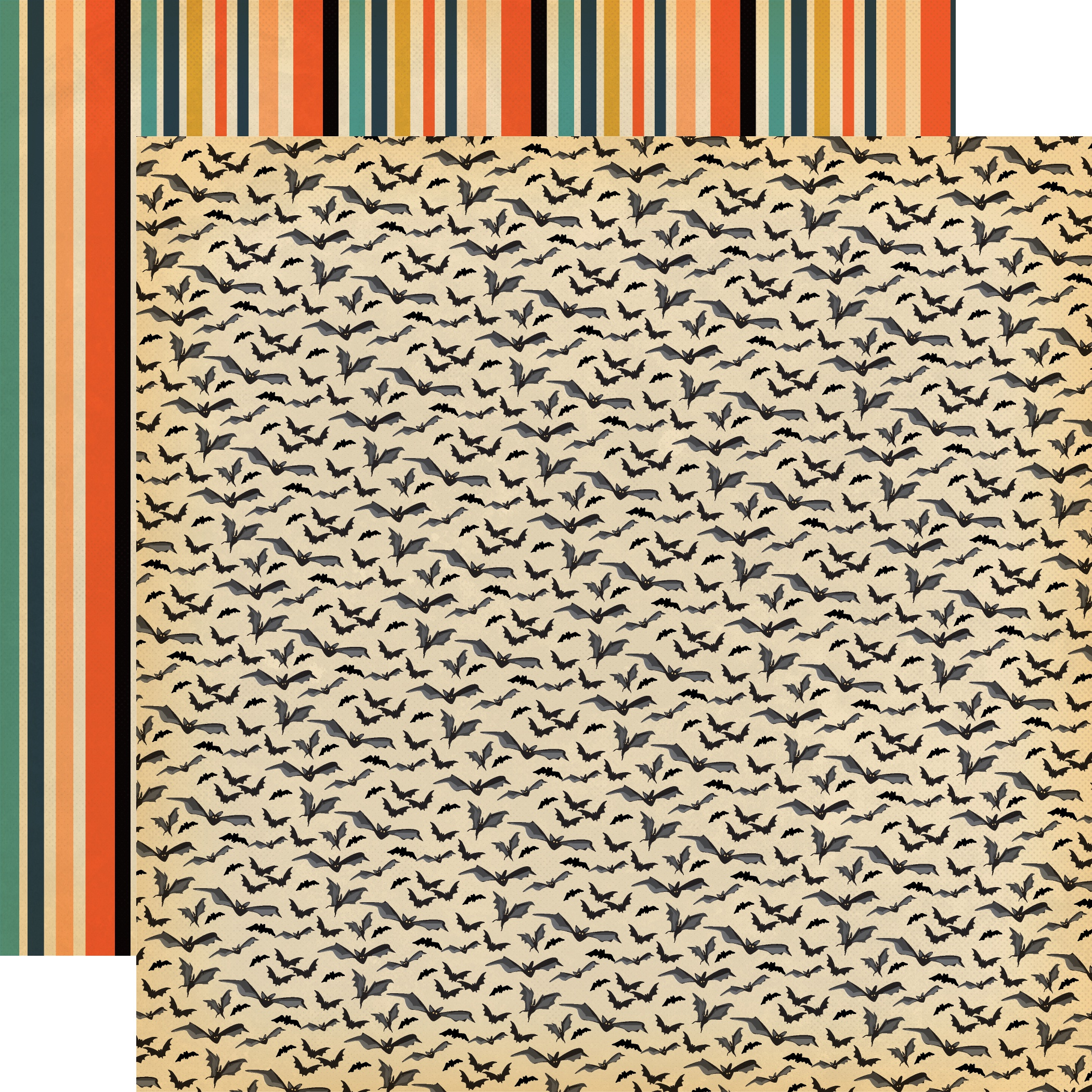 Happy Halloween Double-Sided Cardstock 12X12-Bats Galore