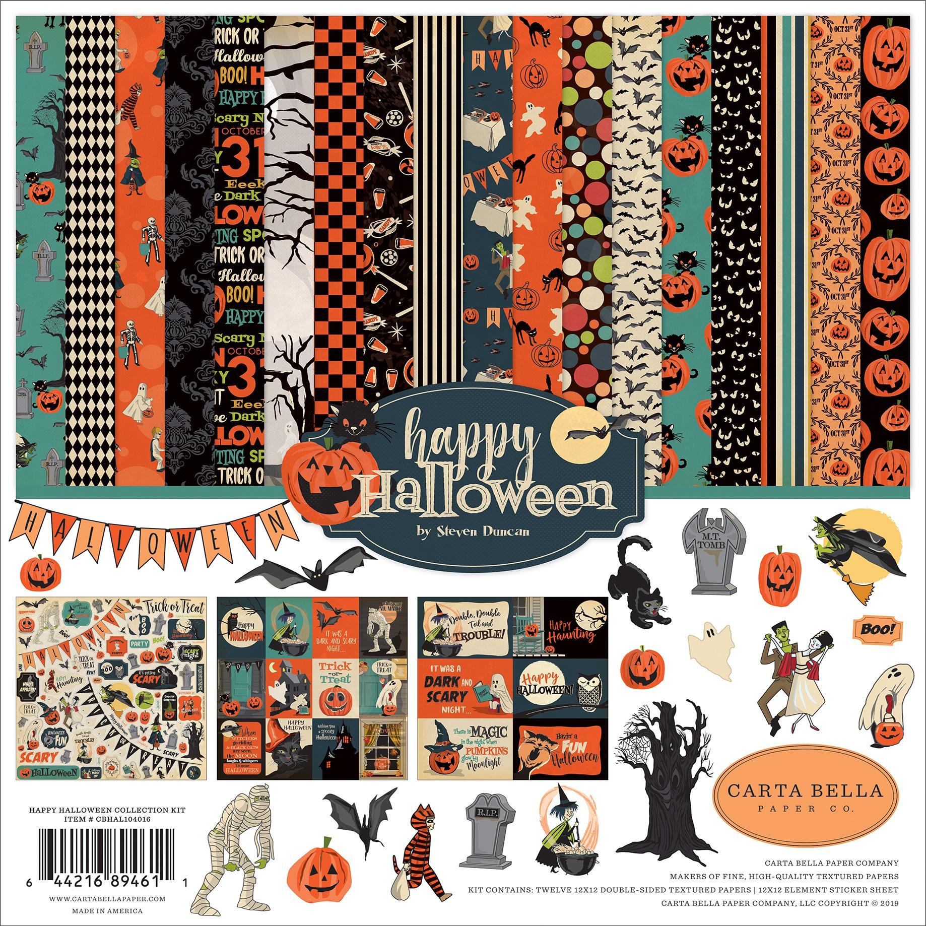 Carta Bella Collection Kit 12X12-Happy Halloween