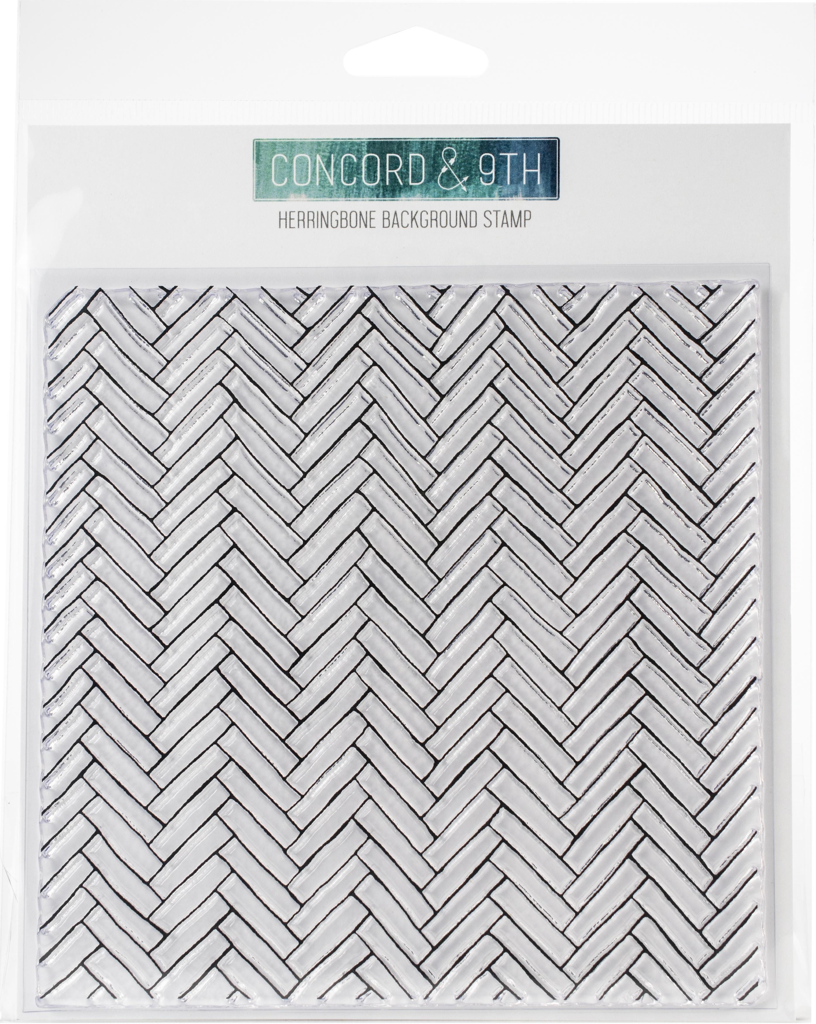 Concord & 9th Herringbone Background Stamp