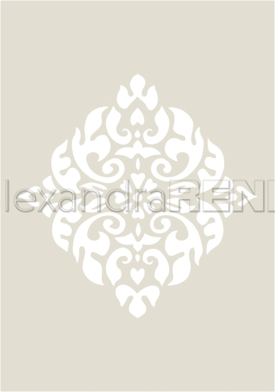 Alexandra Renke Stencil 4.1X5.8-Rauten-Ornament, Ornamentic 2