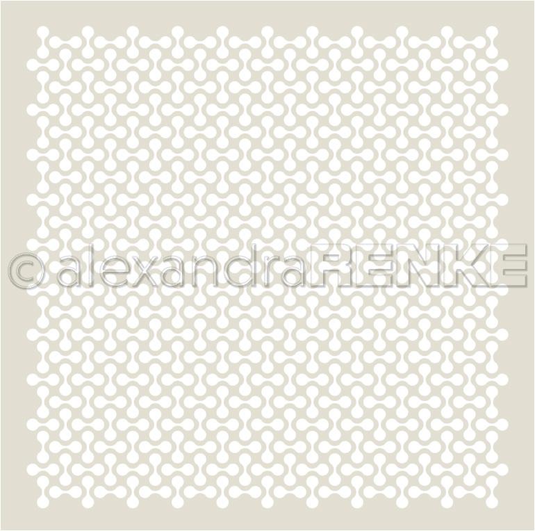 Alexandra Renke Stencil 6X6-Spoon Bisquit Pattern, Ornamentic 2