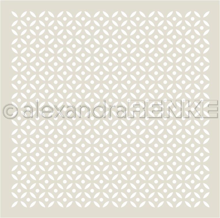 Alexandra Renke Stencil 6X6-Circle Segment Pattern, Ornamentic 2