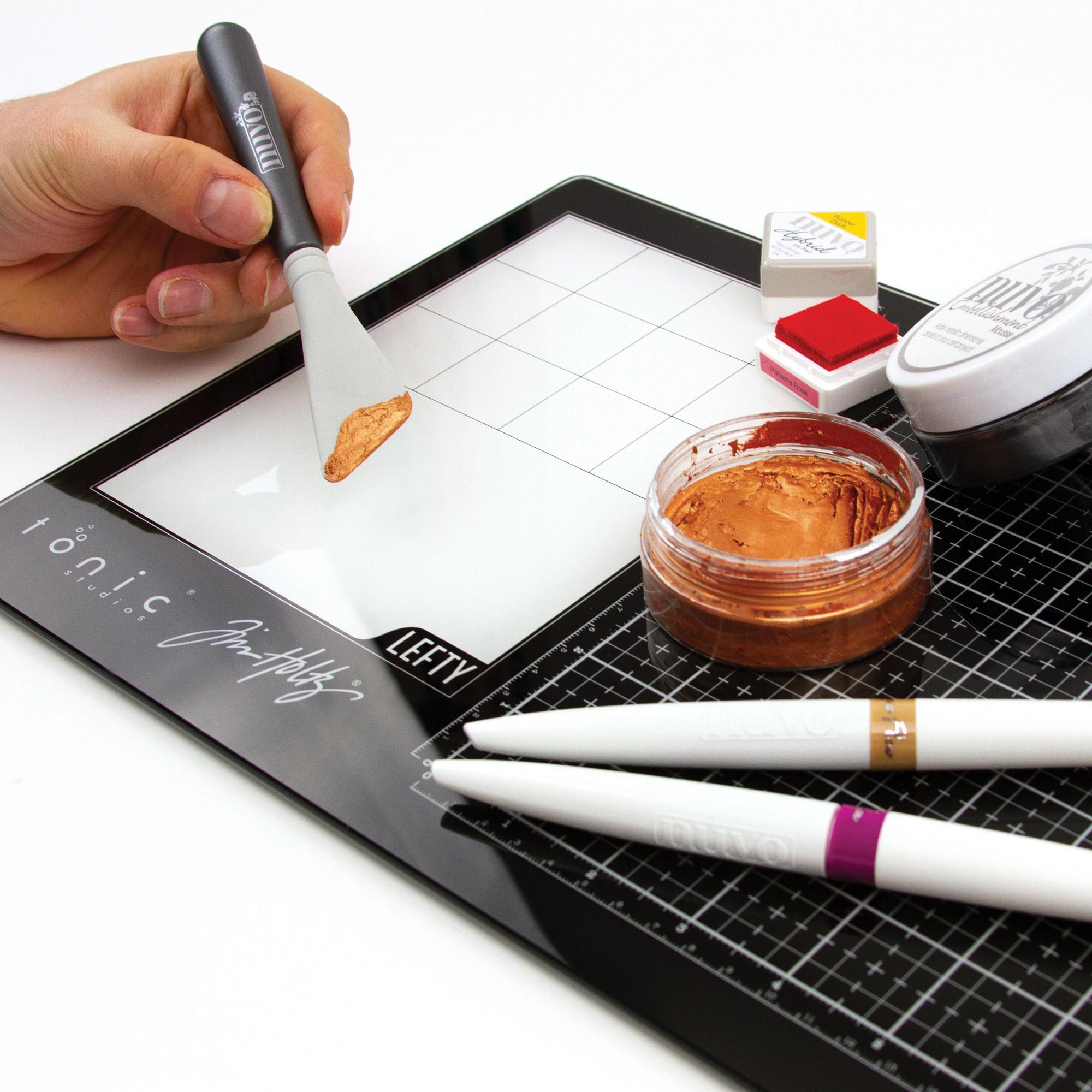 Tim Holtz Travel Glass Media Mat 10.25X15.5-Left-Handed