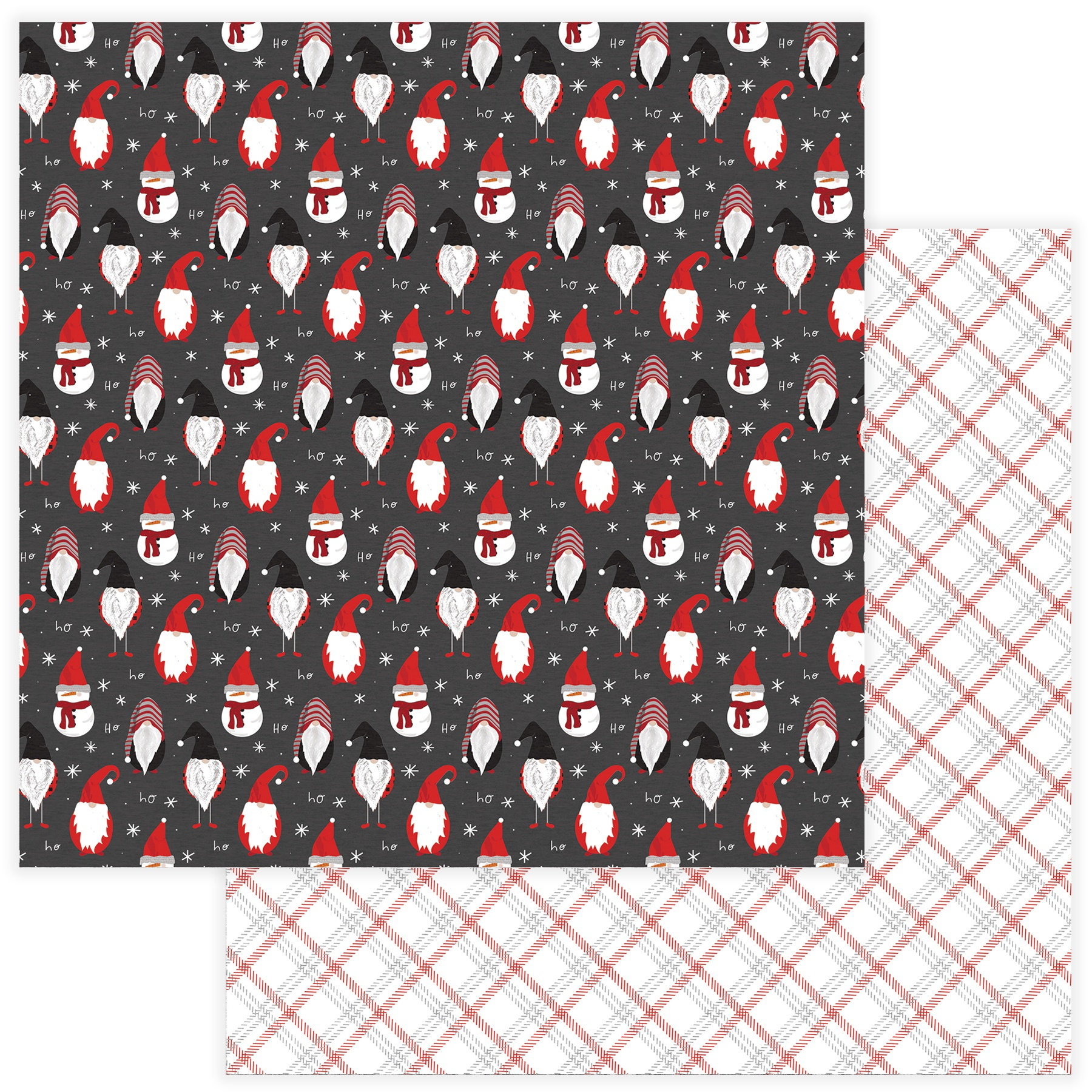 Kringle & Co Double-Sided Cardstock 12X12-Gnome For Christmas