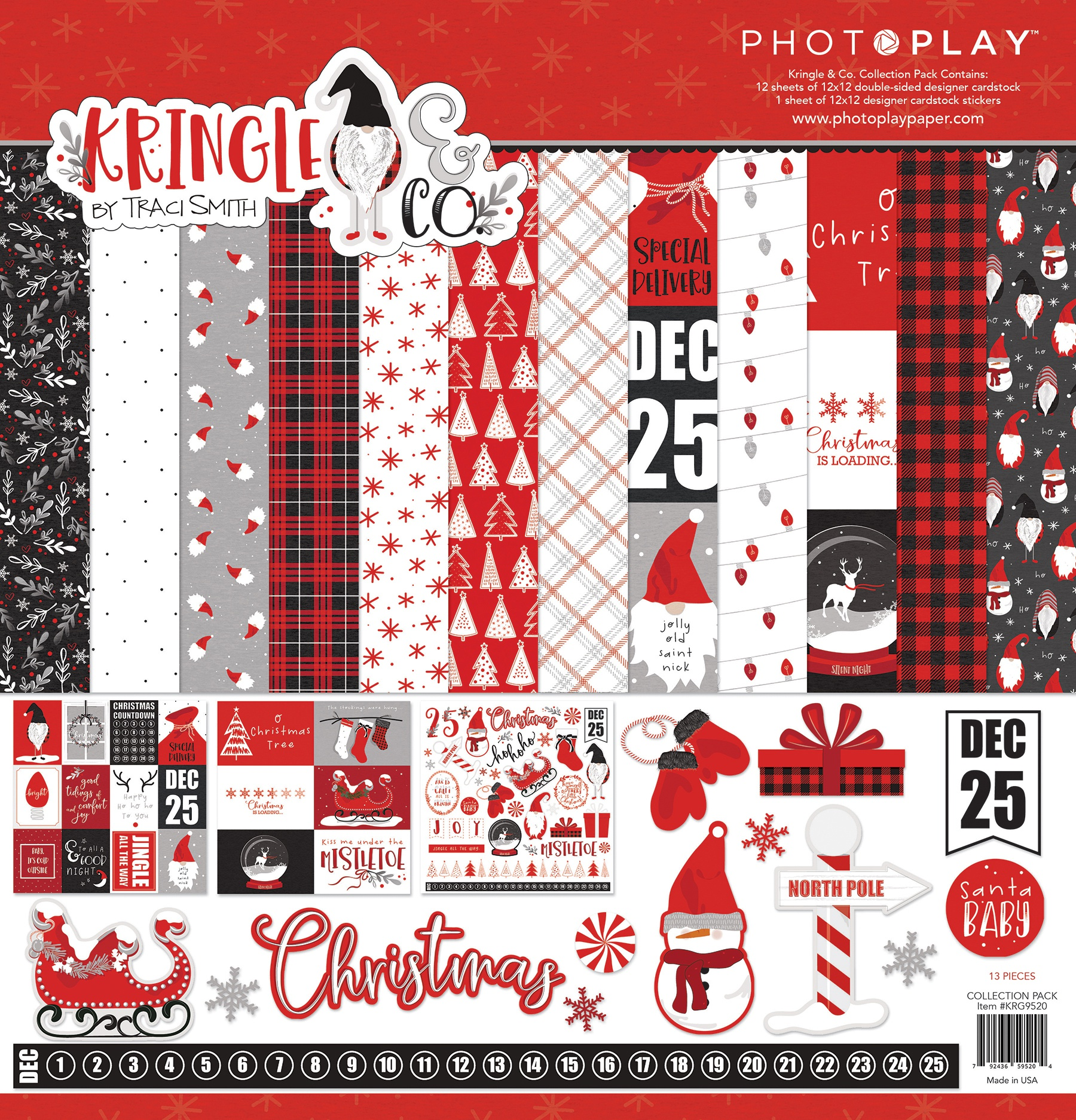 PhotoPlay Collection Pack 12X12-Kringle & Co