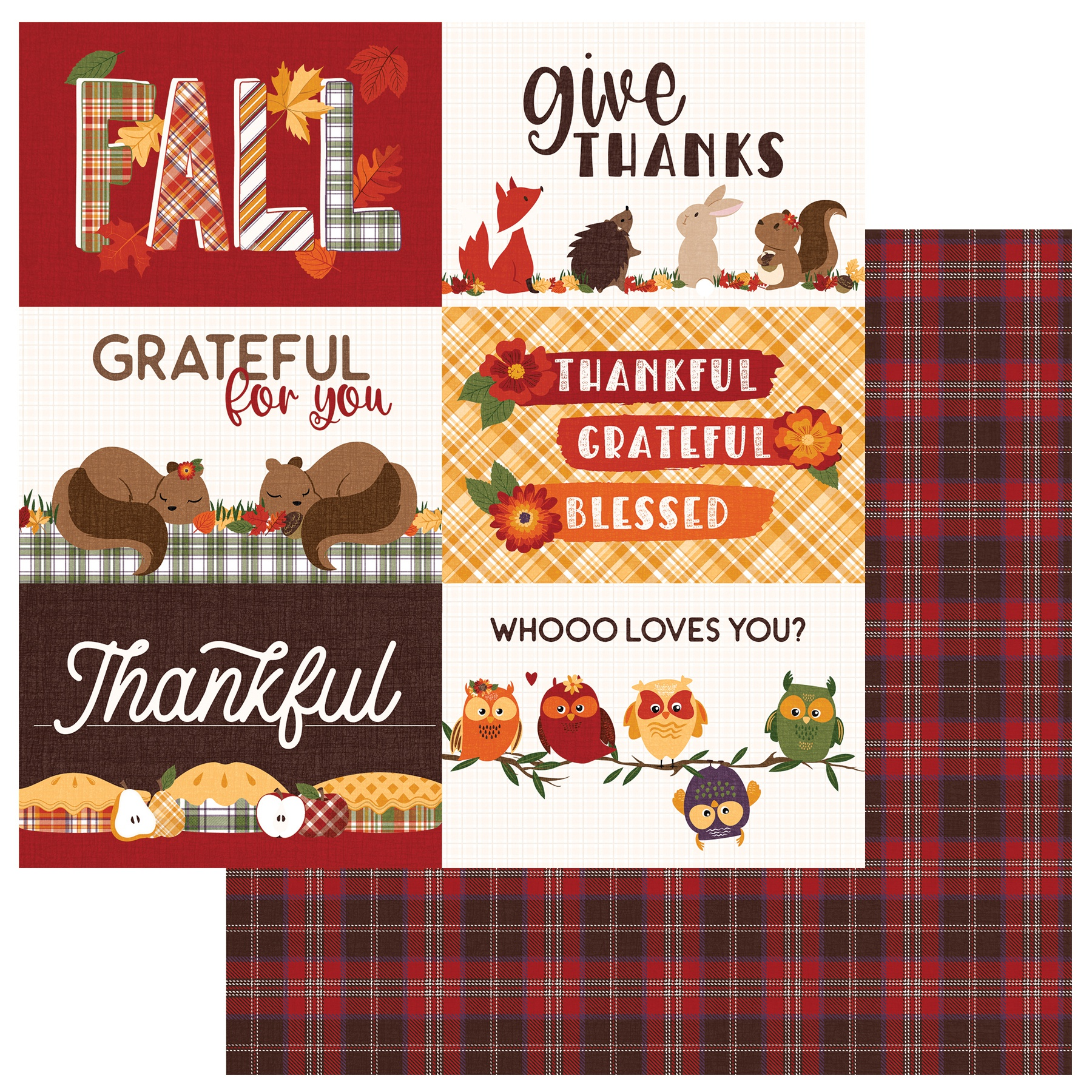 PhotoPlay Mad 4 Plaid Fall - Give Thanks