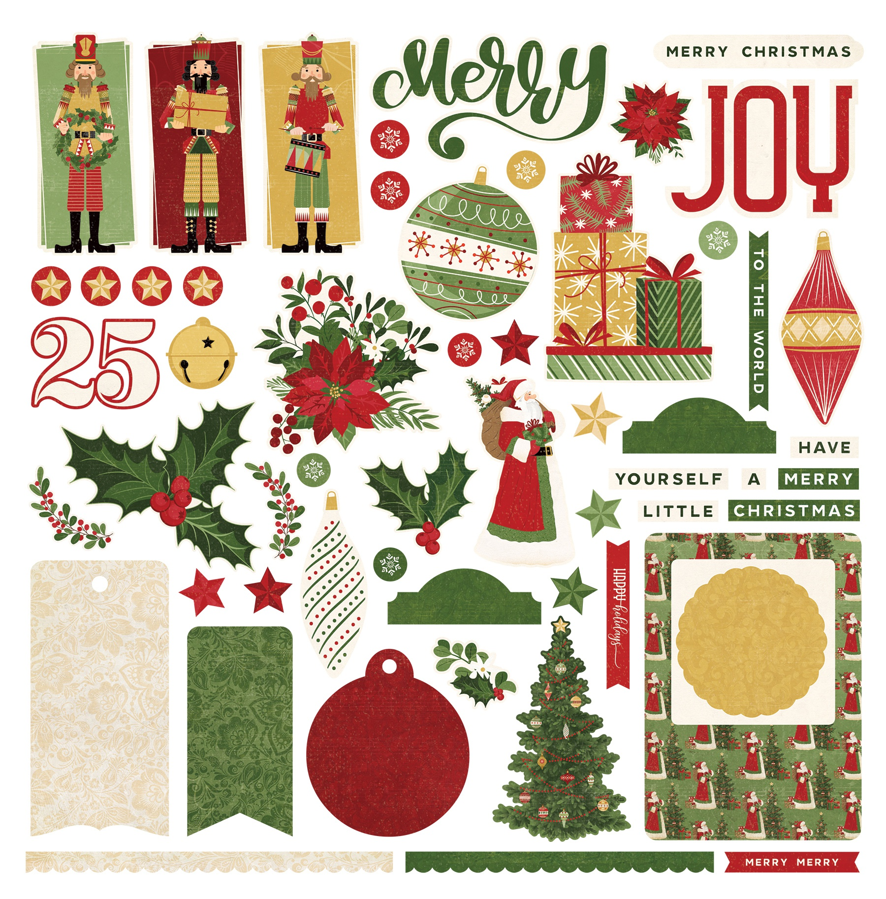 PhotoPlay Collection Card Kit Stickers-Christmas Memories