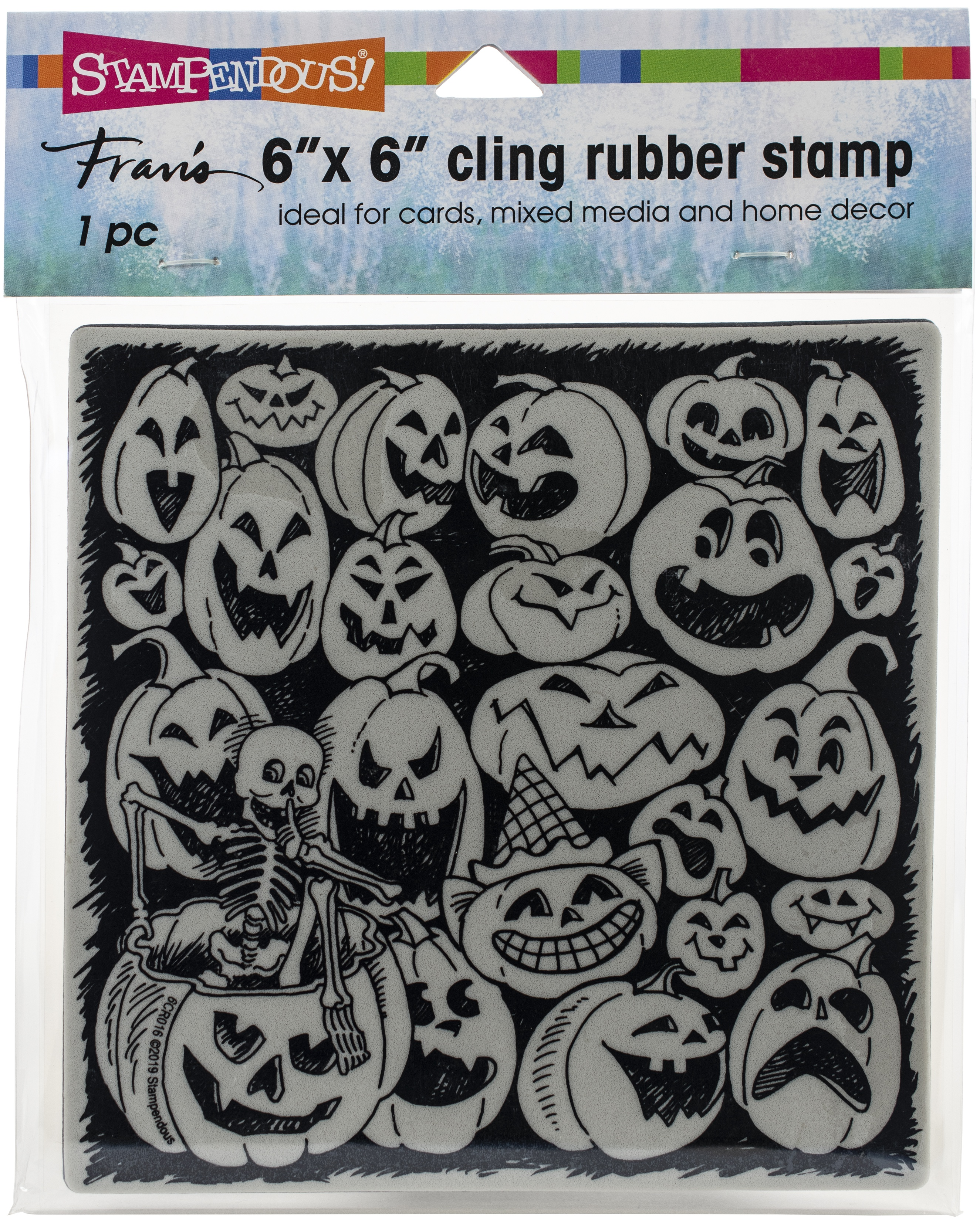 Stampendous - Pumpkin Spooks Cling Stamp