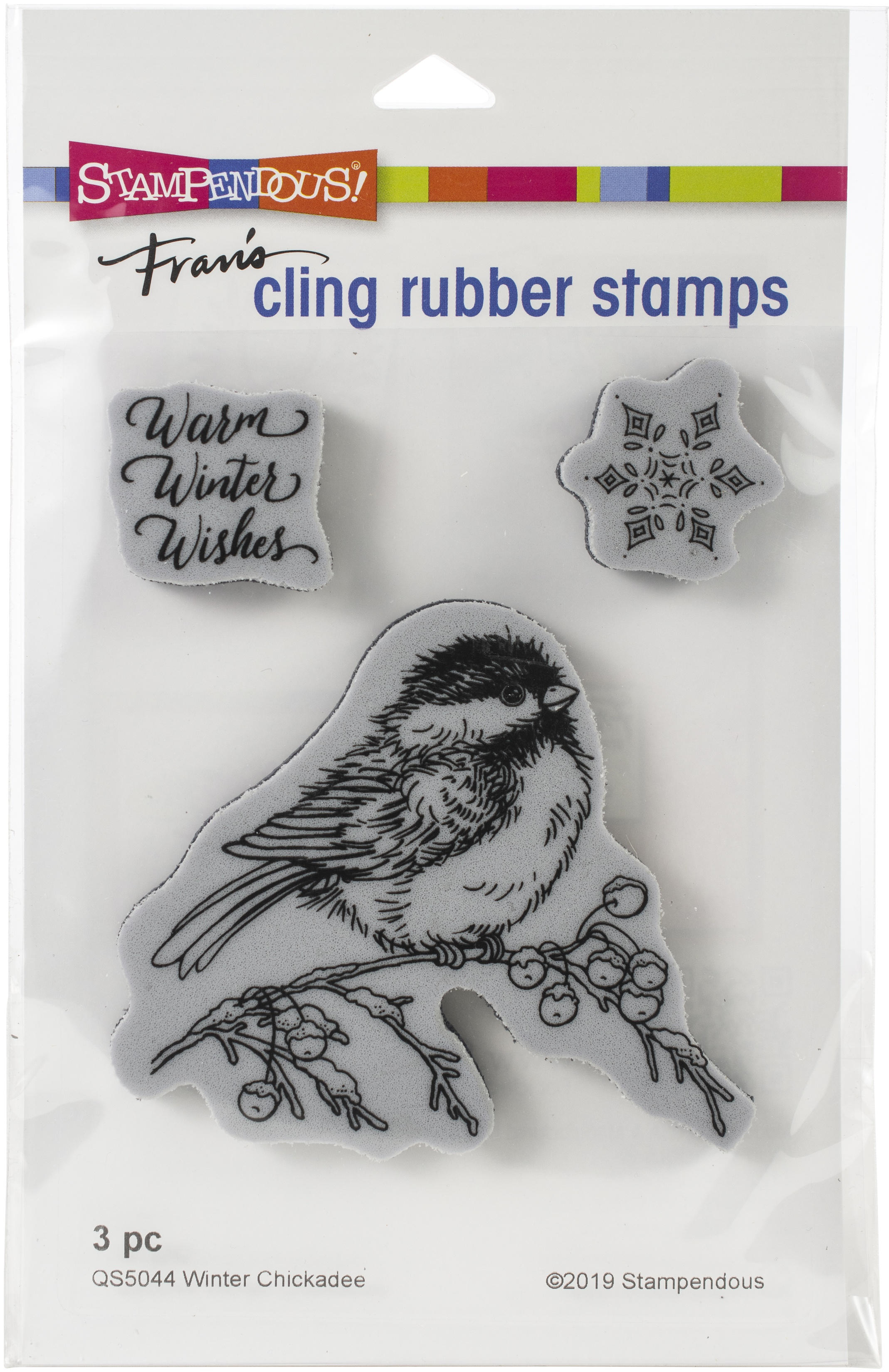 Stampendous Cling Stamp-Winter Chickadee