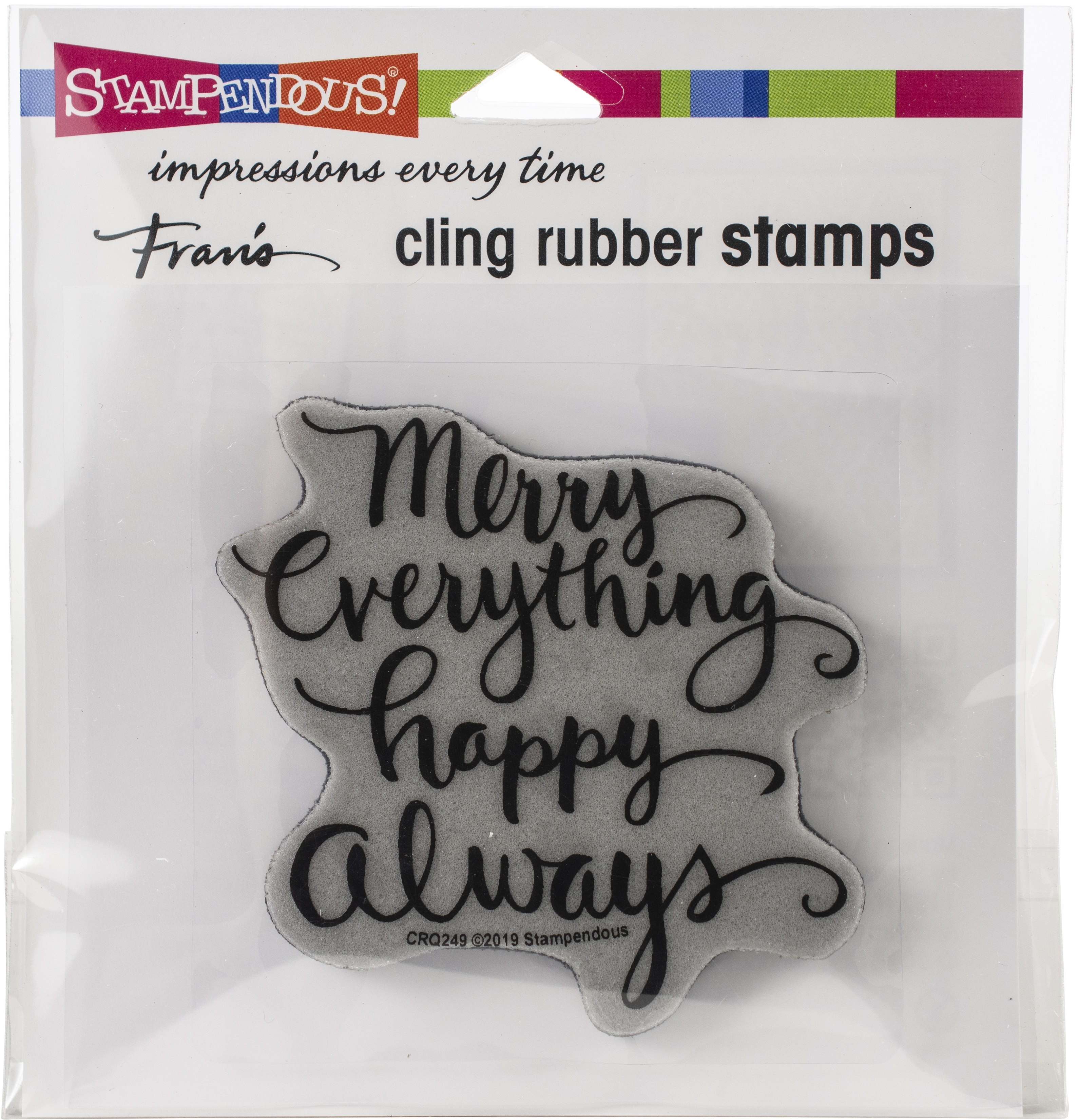 Stampendous Cling Stamp-Merry Always
