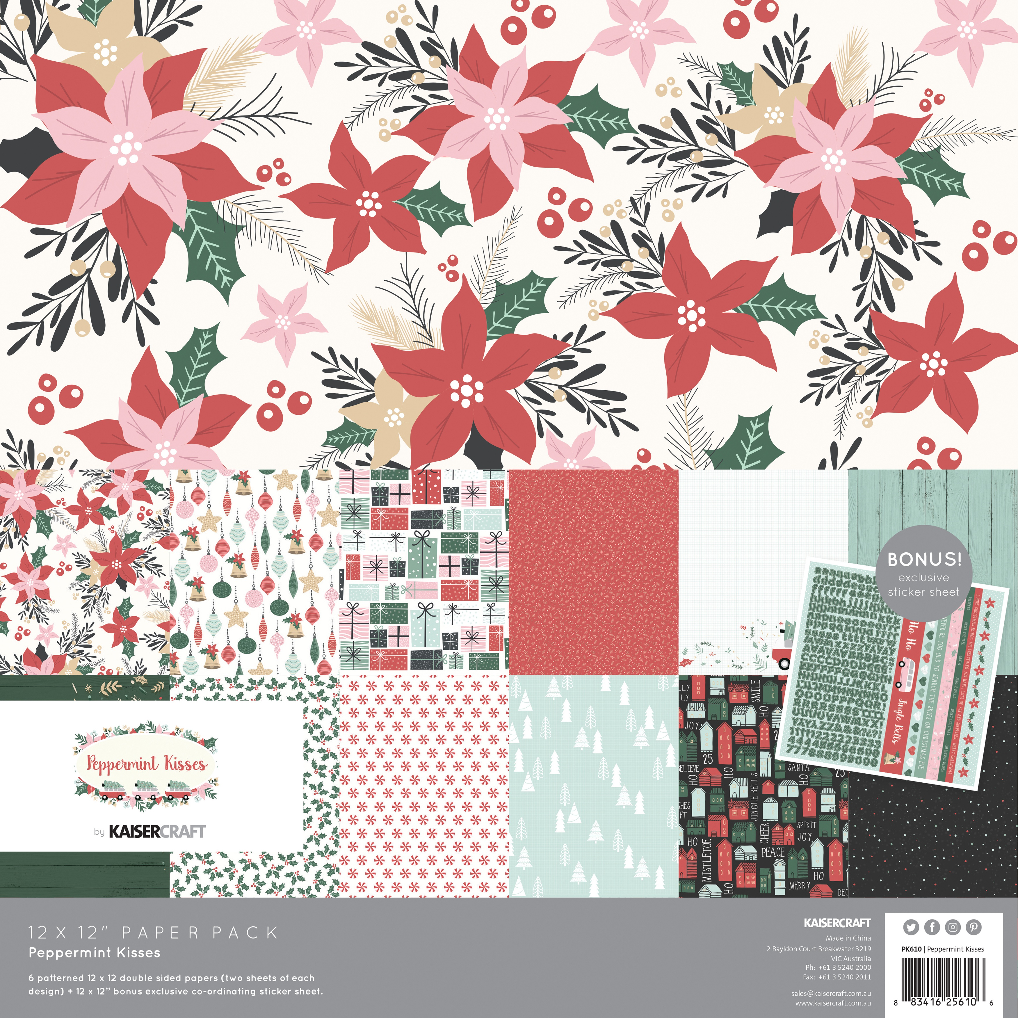 Peppermint Kisses - Paper Pack