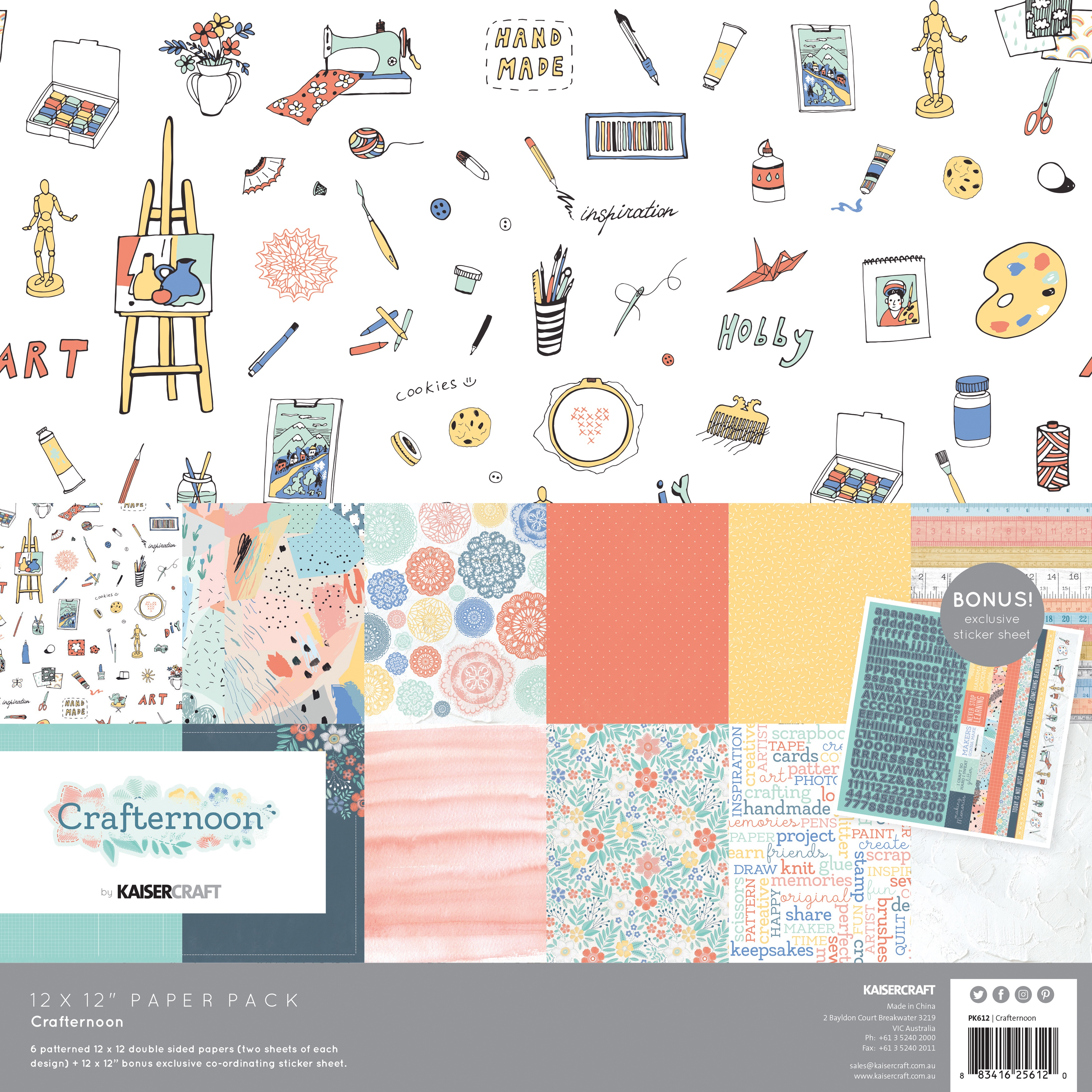 Crafternoon Paper Pack 12X12