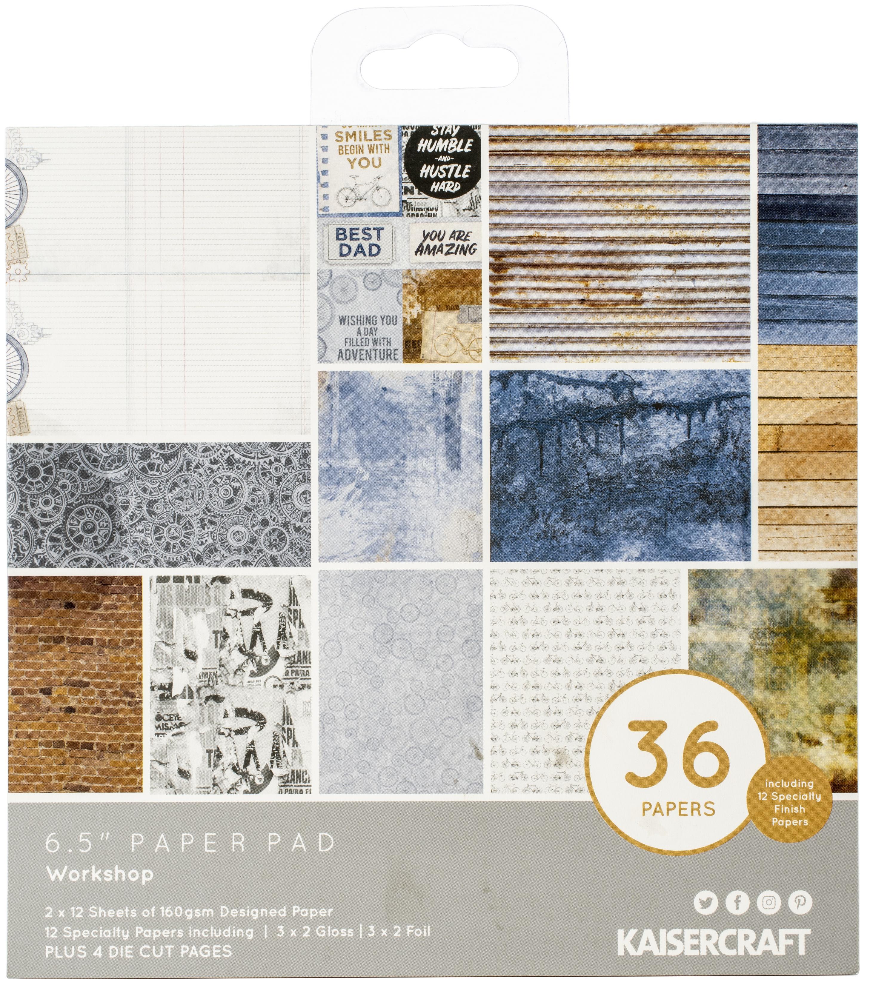 Kaisercraft Paper Pad 6.5X6.5 40/Pkg-Workshop