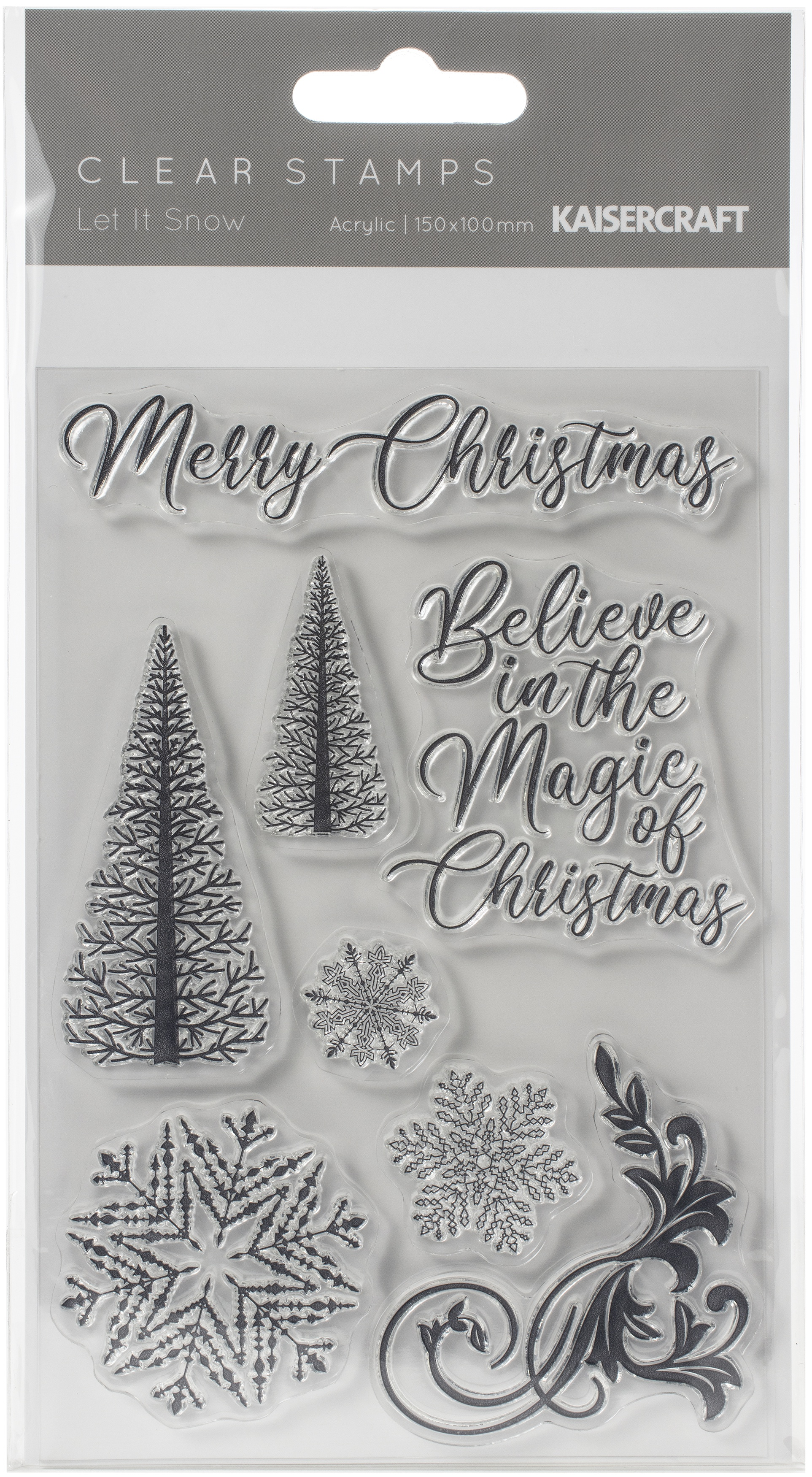 Kaisercraft Clear Stamp 6X4-Let It Snow