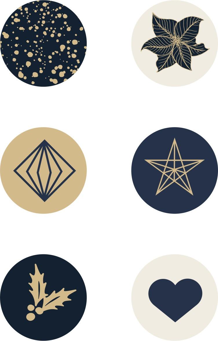 Starry Night Adhesive Curios 6/Pkg-