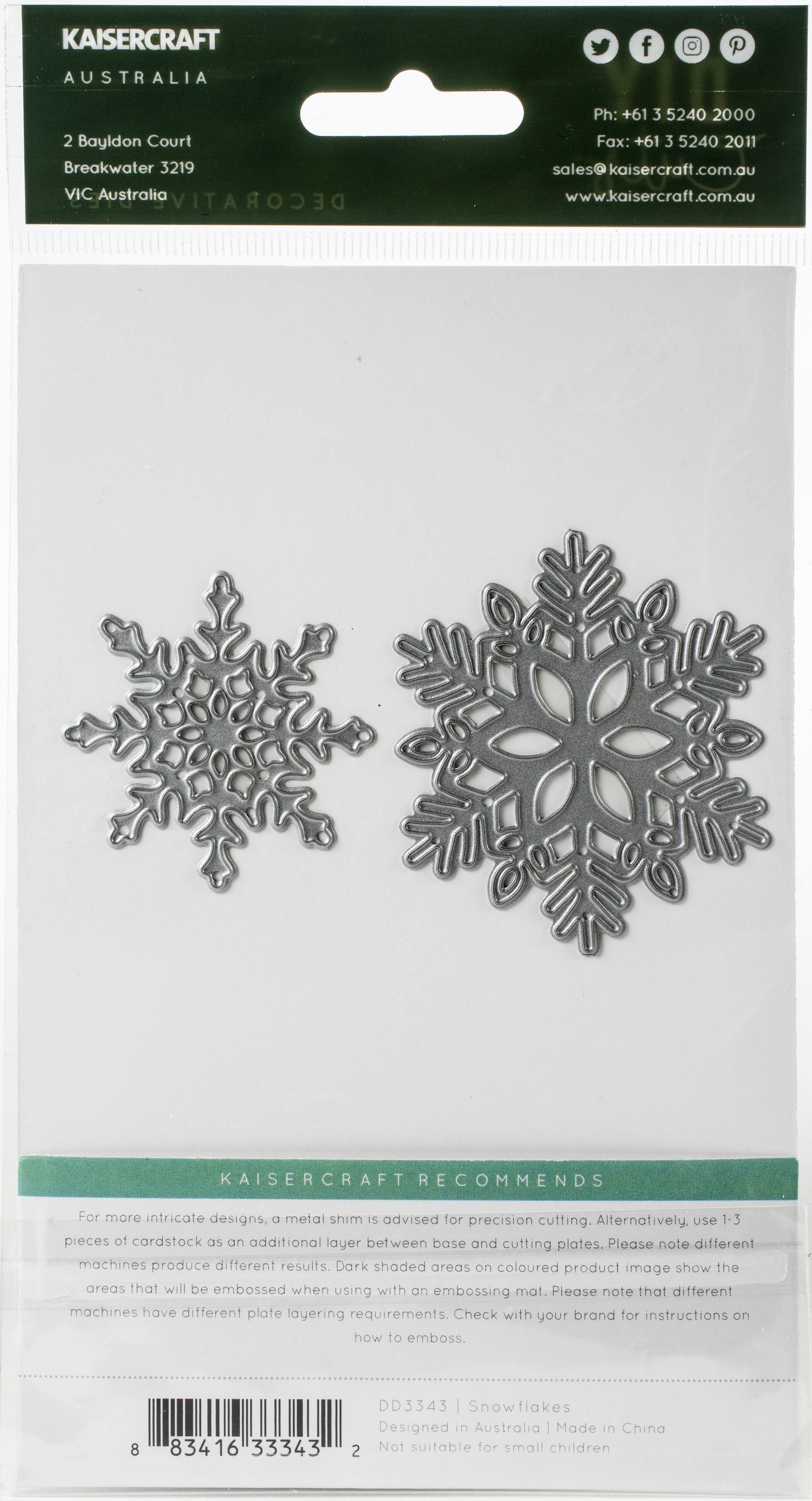 Kaisercraft - Decorative Dies - Snowflakes