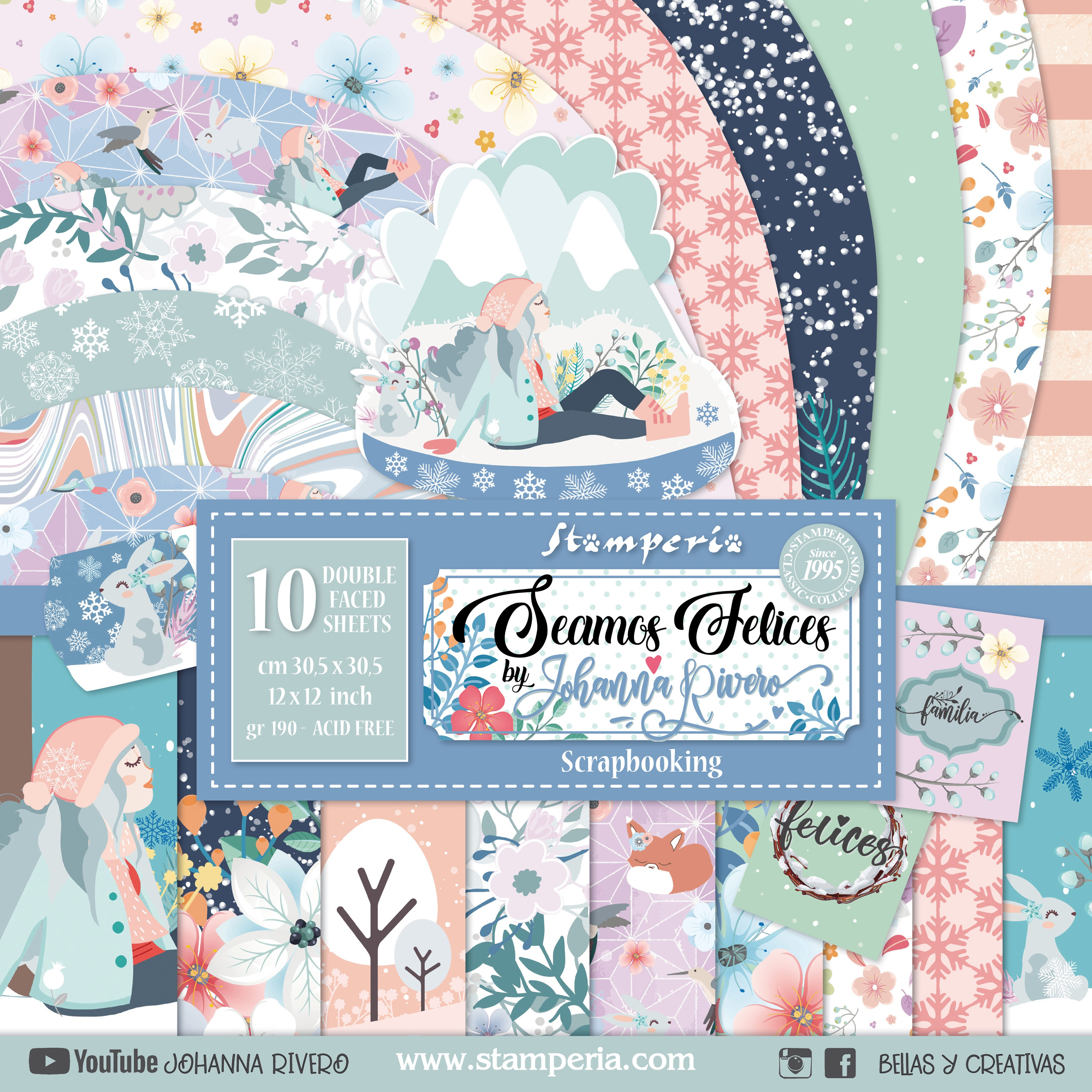 Stamperia - Seamos Felices Collection - 12x12 Paper Pack