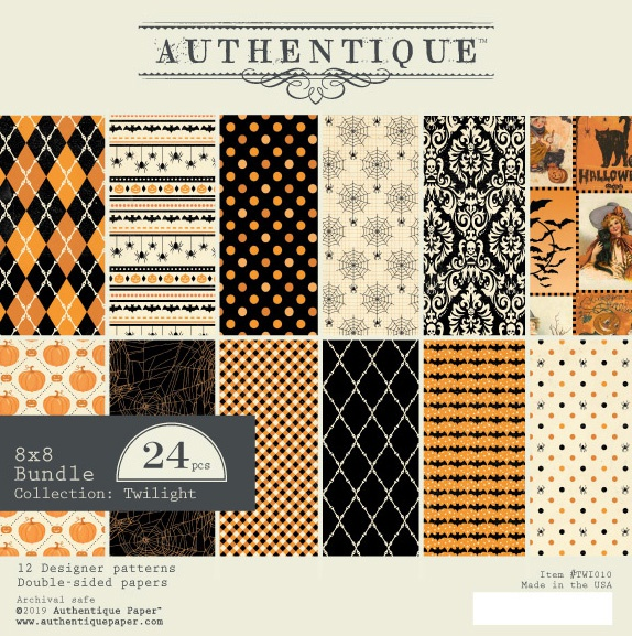 Authentique Double-Sided Cardstock Pad 8X8 24/Pkg-Twilight, 6 Designs/4 Each