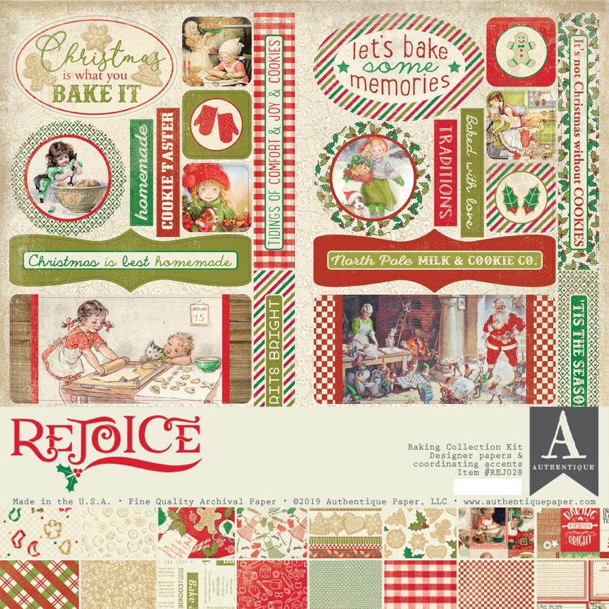 Authentique Rejoice - Baking 12x12 Collection Kit