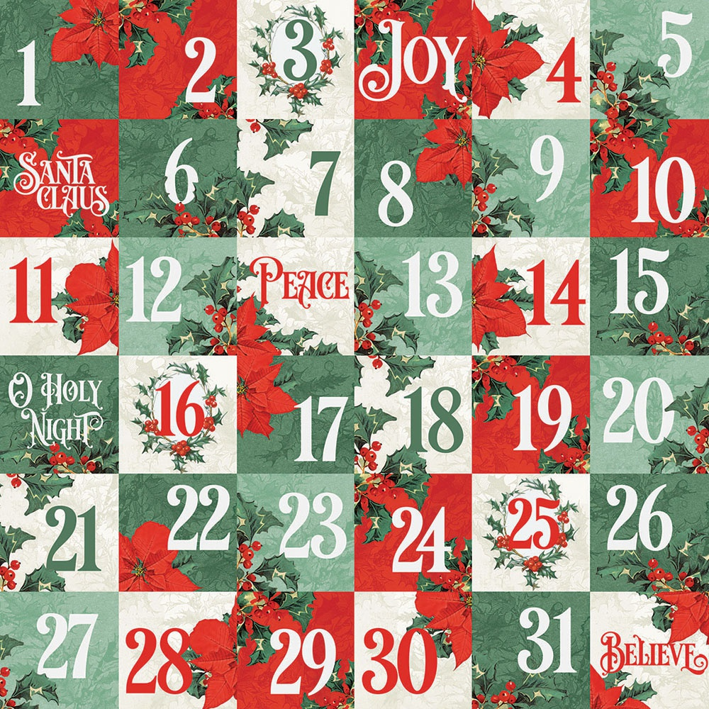 Country Christmas Double-Sided Cardstock 12X12-2X2 Elements