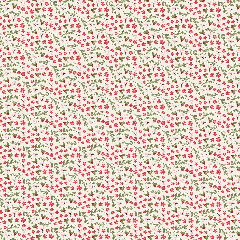Holly Jolly Double-Sided Cardstock 12X12-2X2 Elements