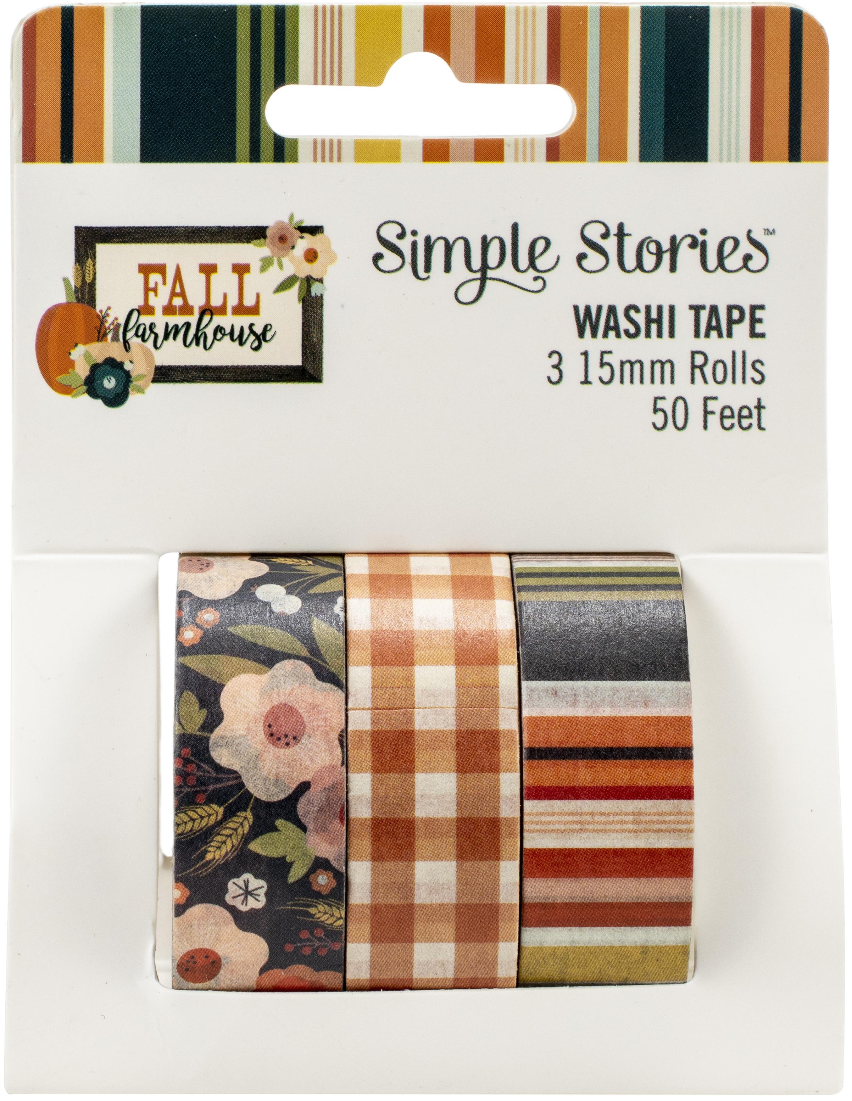 Simple Stories Fall Farmhouse Washi Tape 3/Pkg-