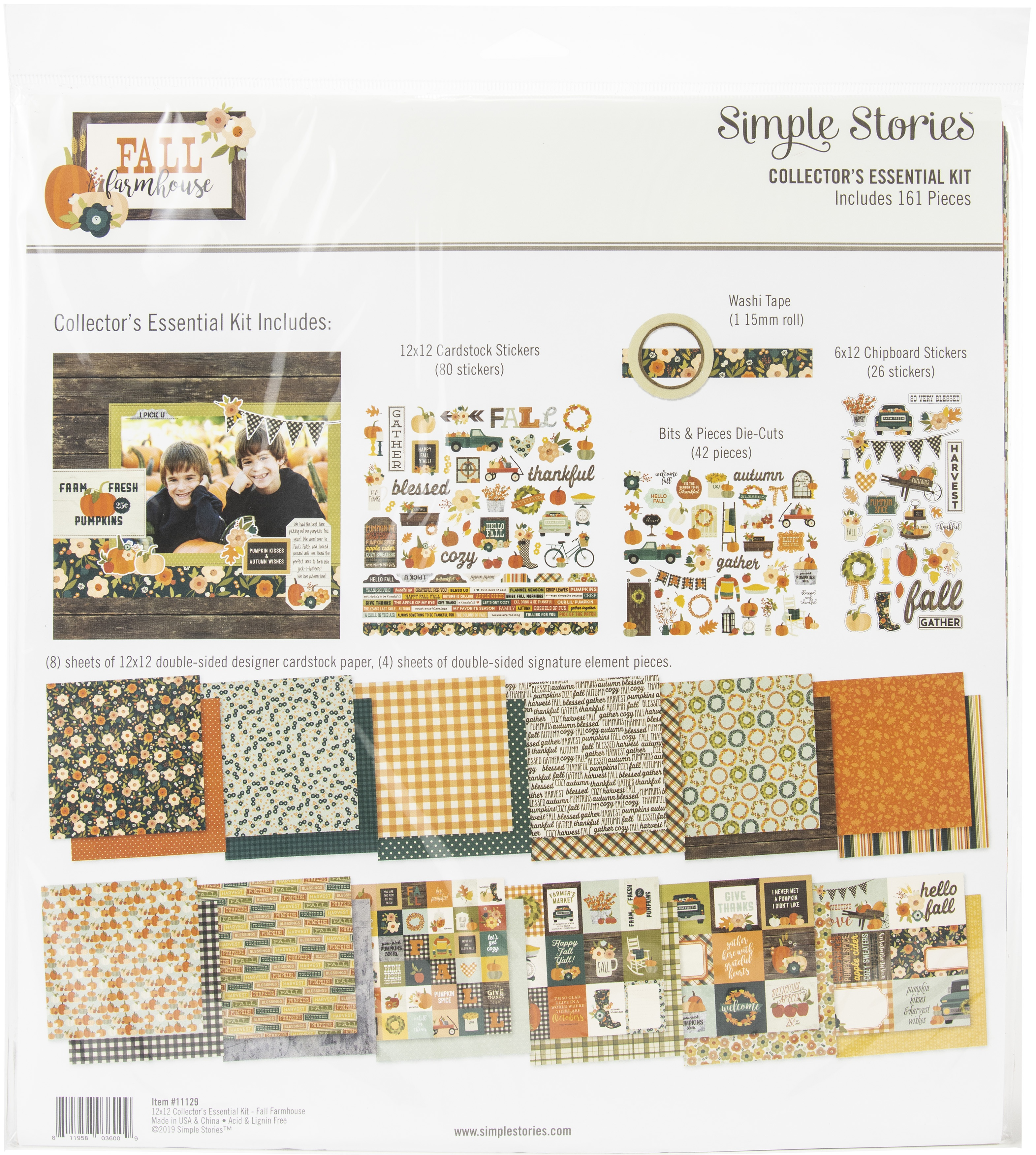 Simple Stories Collector's Essential Kit 12X12-Fall Farmhouse