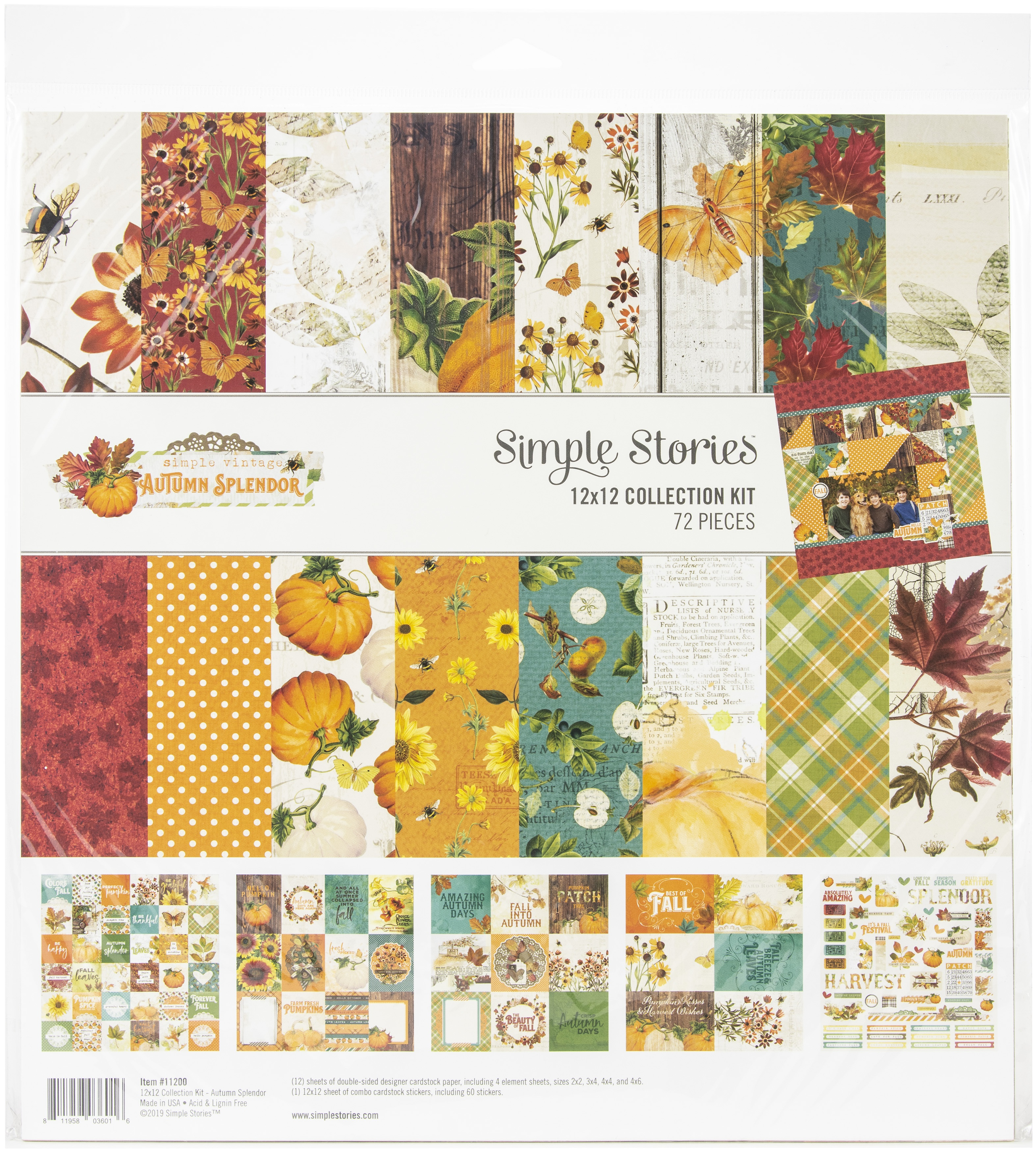 Simple Stories Collection Kit 12X12-Autumn Splendor