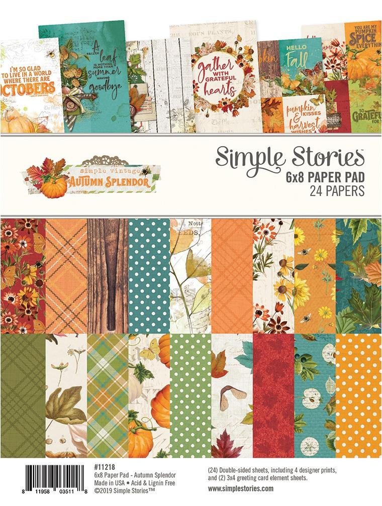 Simple Stories Double-Sided Paper Pad 6X8 24/Pkg-Autumn Splendor, 8 Designs/3 ...